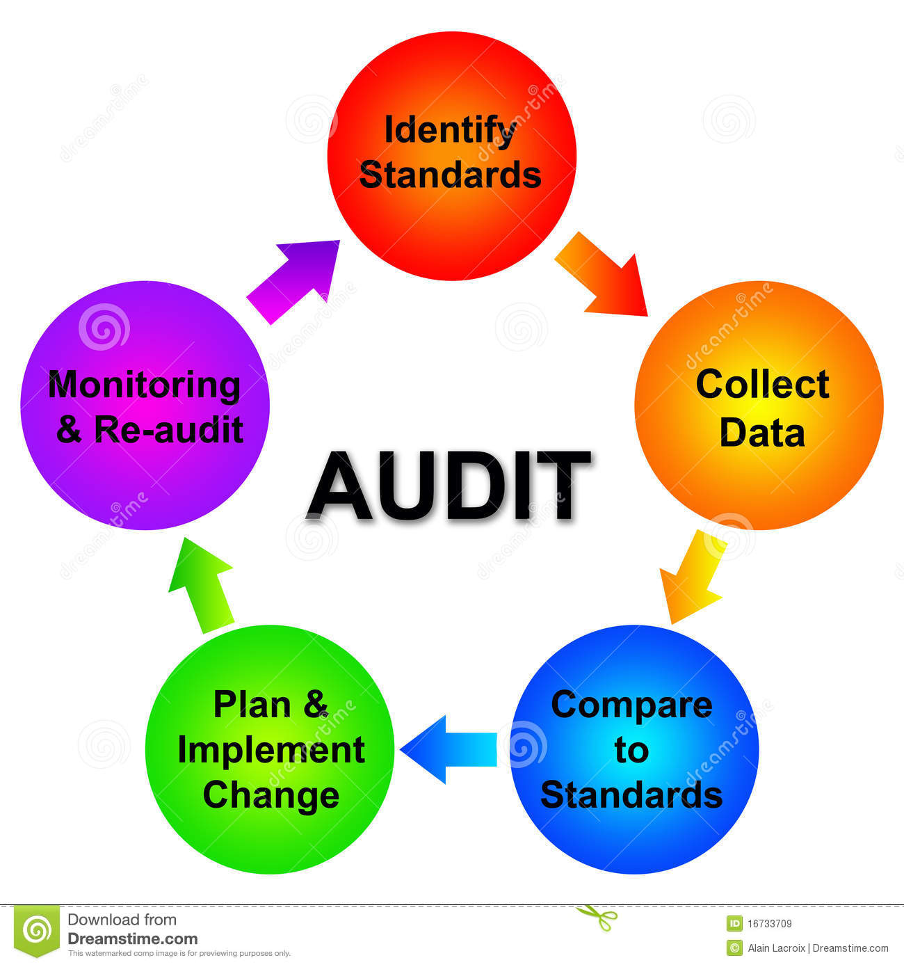 Overview of the different steps of an audit planning.