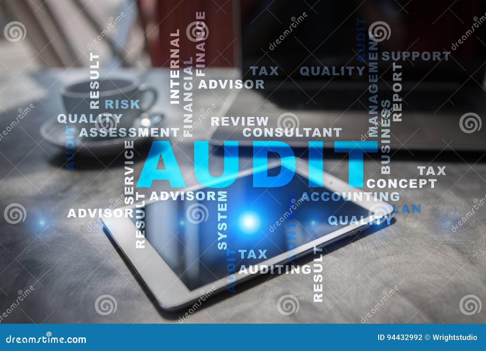 Audit business concept. Auditor. Compliance. Words cloud.
