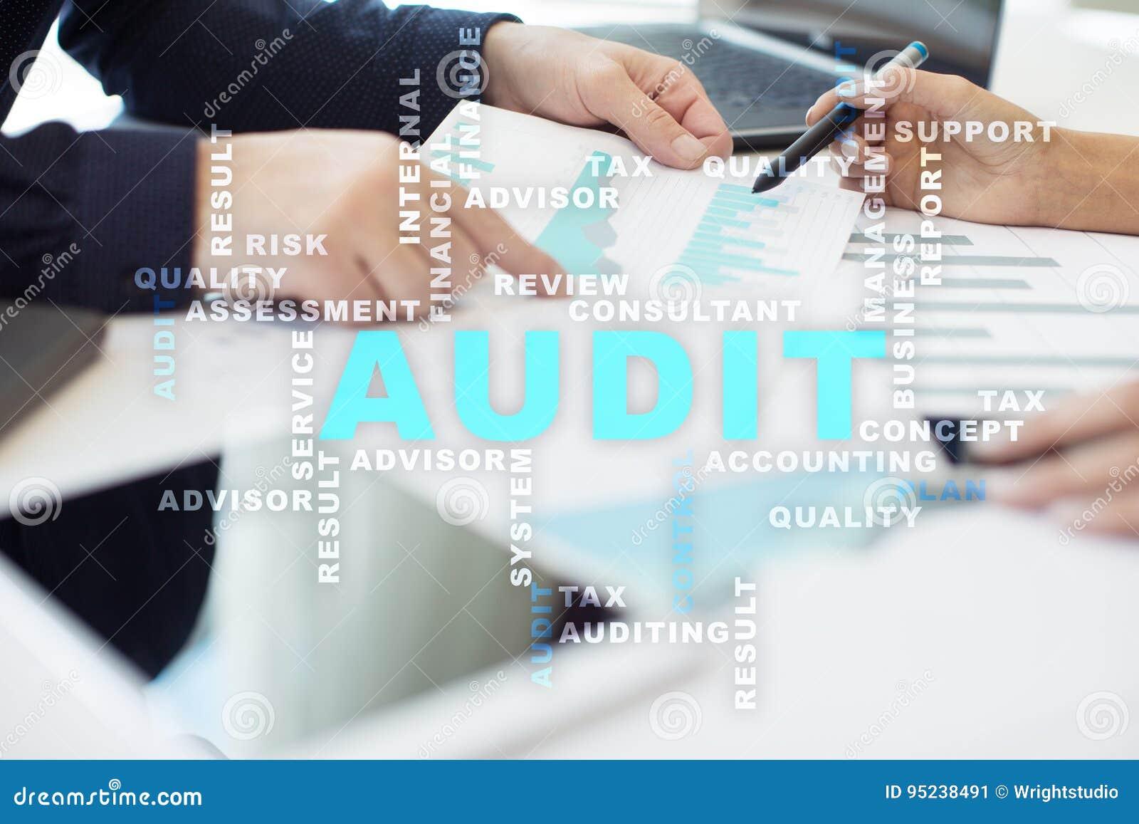 Audit Business Concept  Auditor  Compliance  Words Cloud  Stock