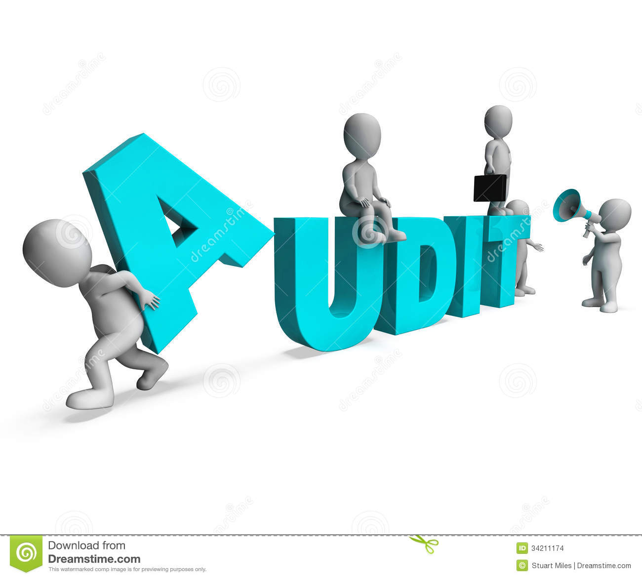 Audit Characters Shows Auditors Auditing Or Scrutiny Stock Images ...