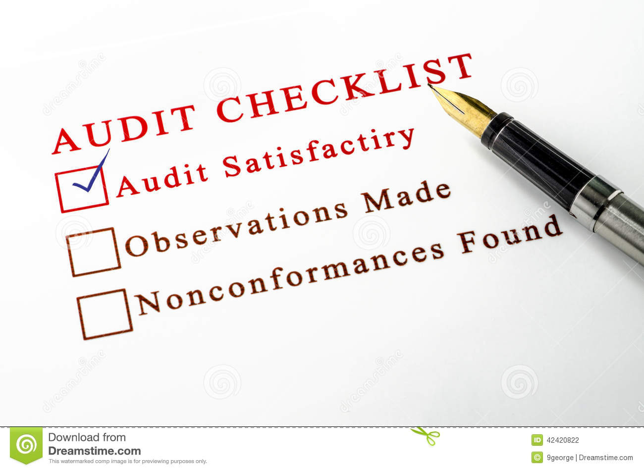 Audit Checklist Royalty-Free Stock Photography ...