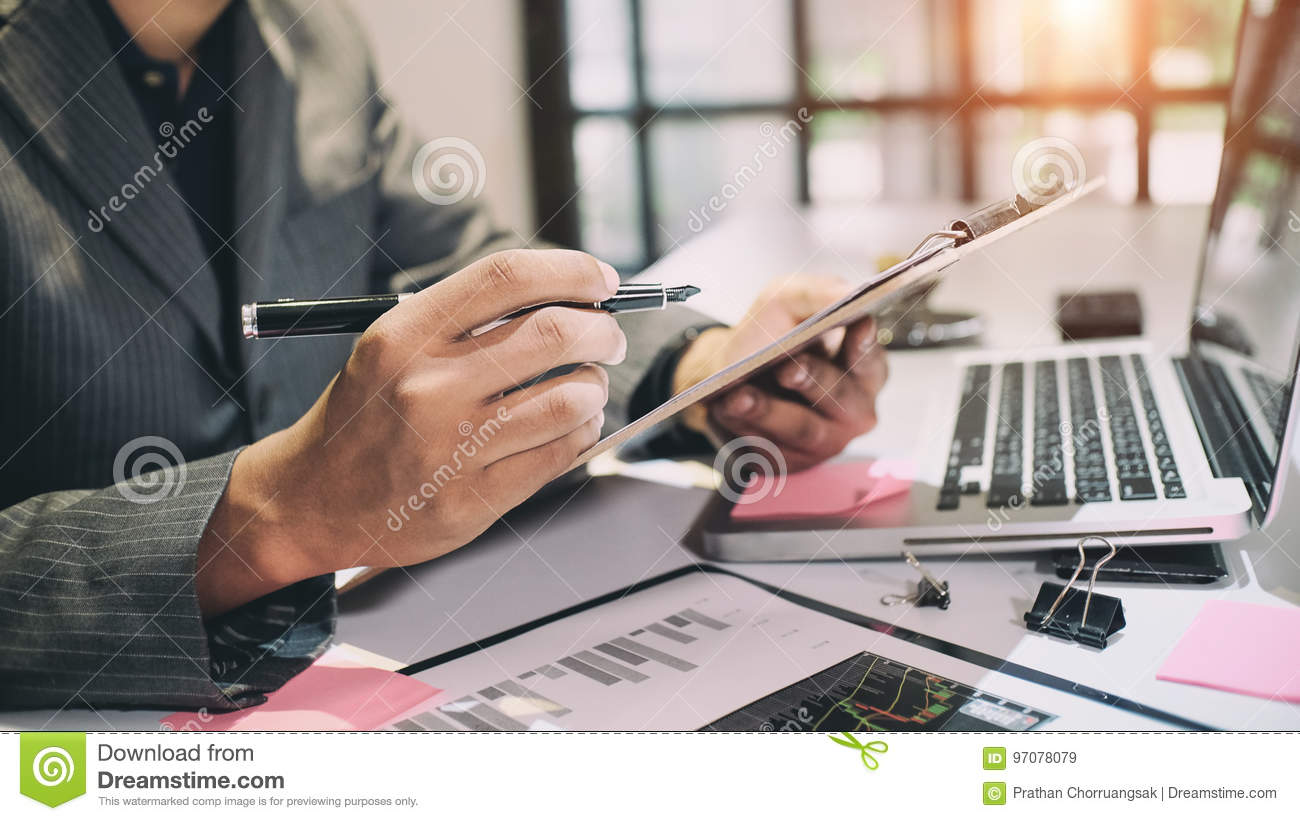 Audit concept,Bookkeeper or financial inspector.