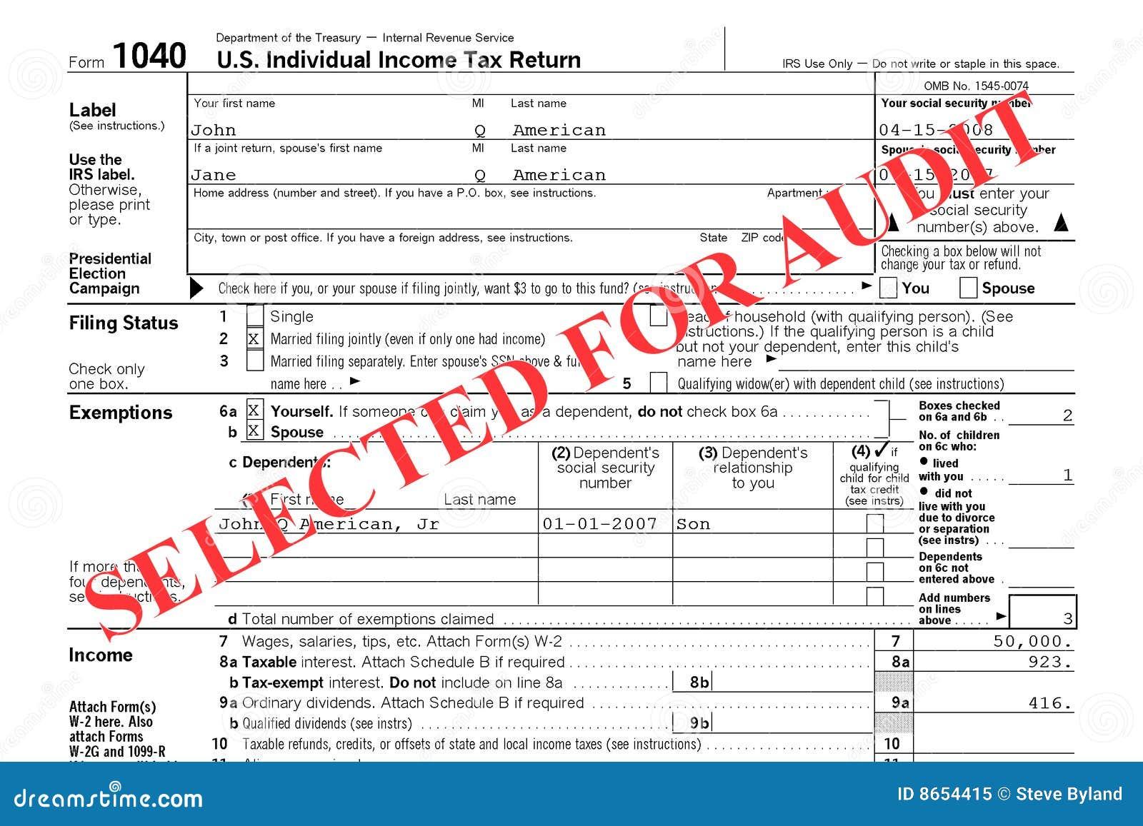 Audit de renvoi d impôt