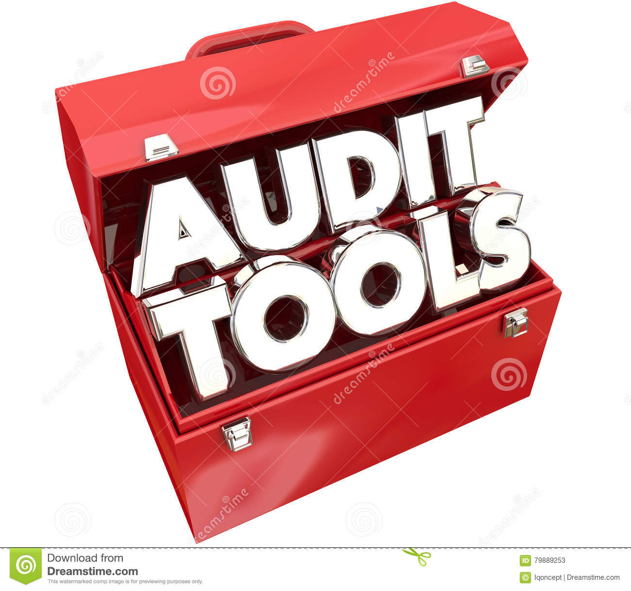 Audit Tools Toolbox Tax Accounting Review Stock Illustration ...