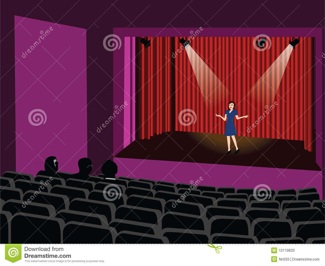Stock Photo Audition Vector Image12119620 on S Playhouse Plans
