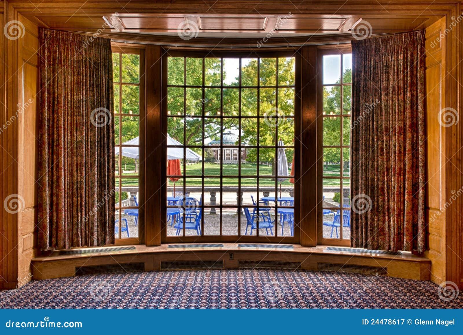 Auditorium From Bay Window Frame Stock Image Image 24478617