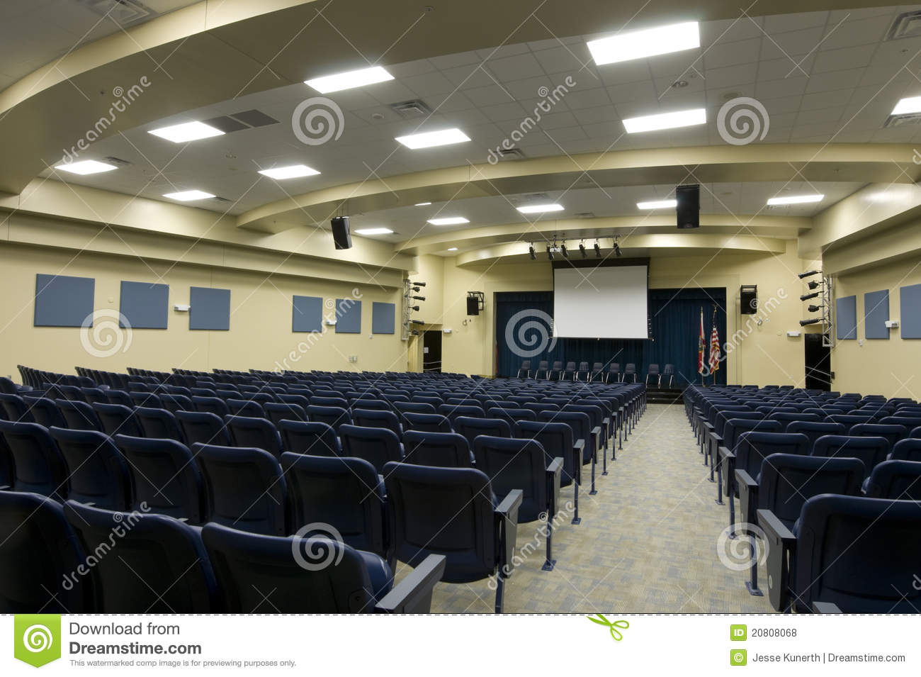 Auditorium At Middle School Royalty Free Stock Photos ...