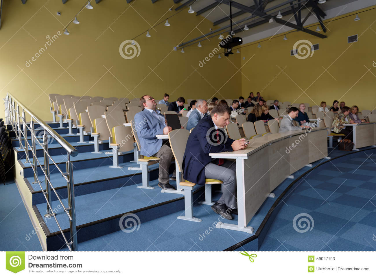 An Auditorium In School Royalty-Free Stock Photo ...