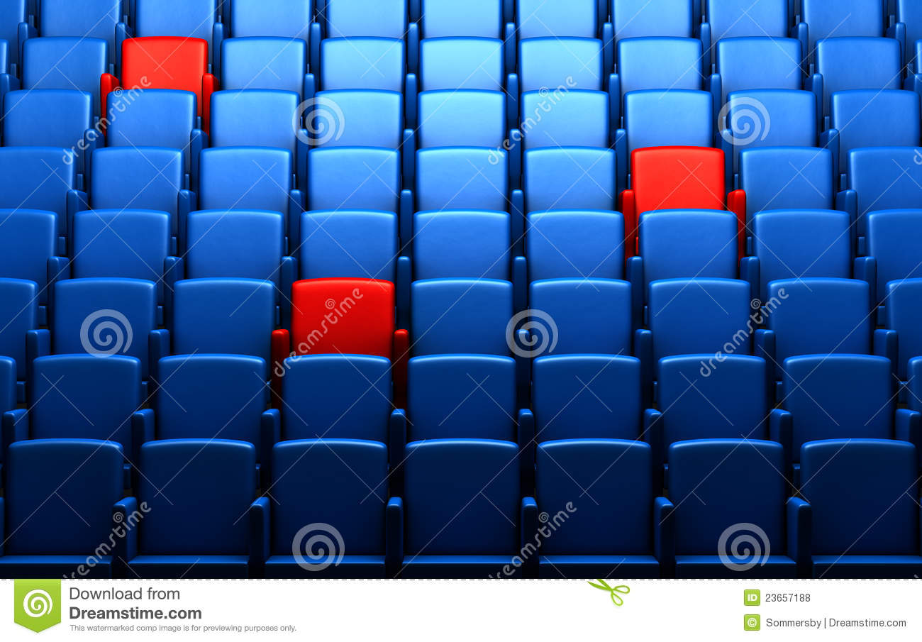 Auditorium With Reserved Seats Stock Illustration