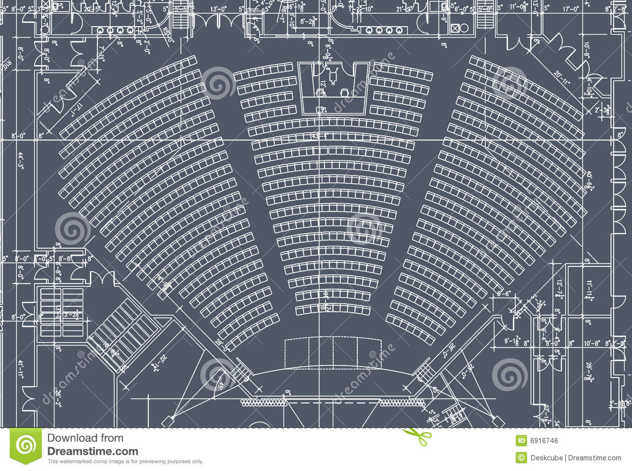 Auditorium Seats Plan Royalty Free Stock Image - Image ...