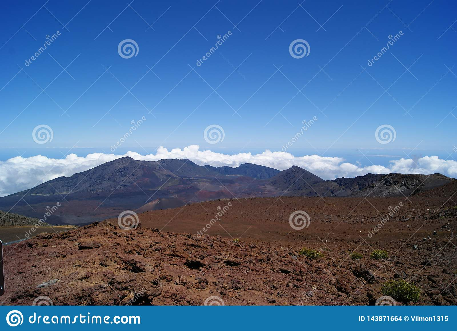 Auf dem Haleakala-Vulkan in Maui Hawaii