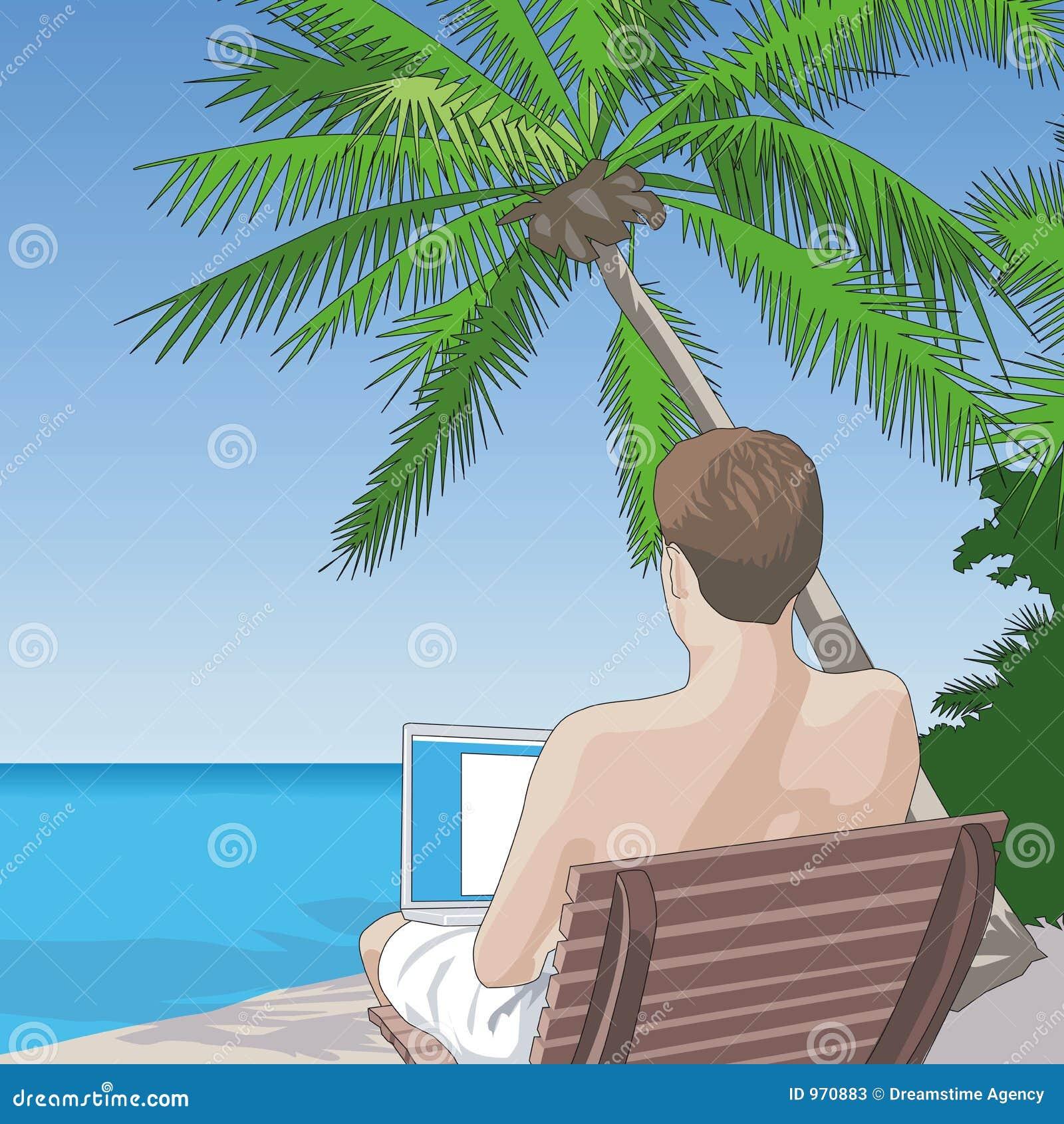 Auf dem Strand auf dem Netz