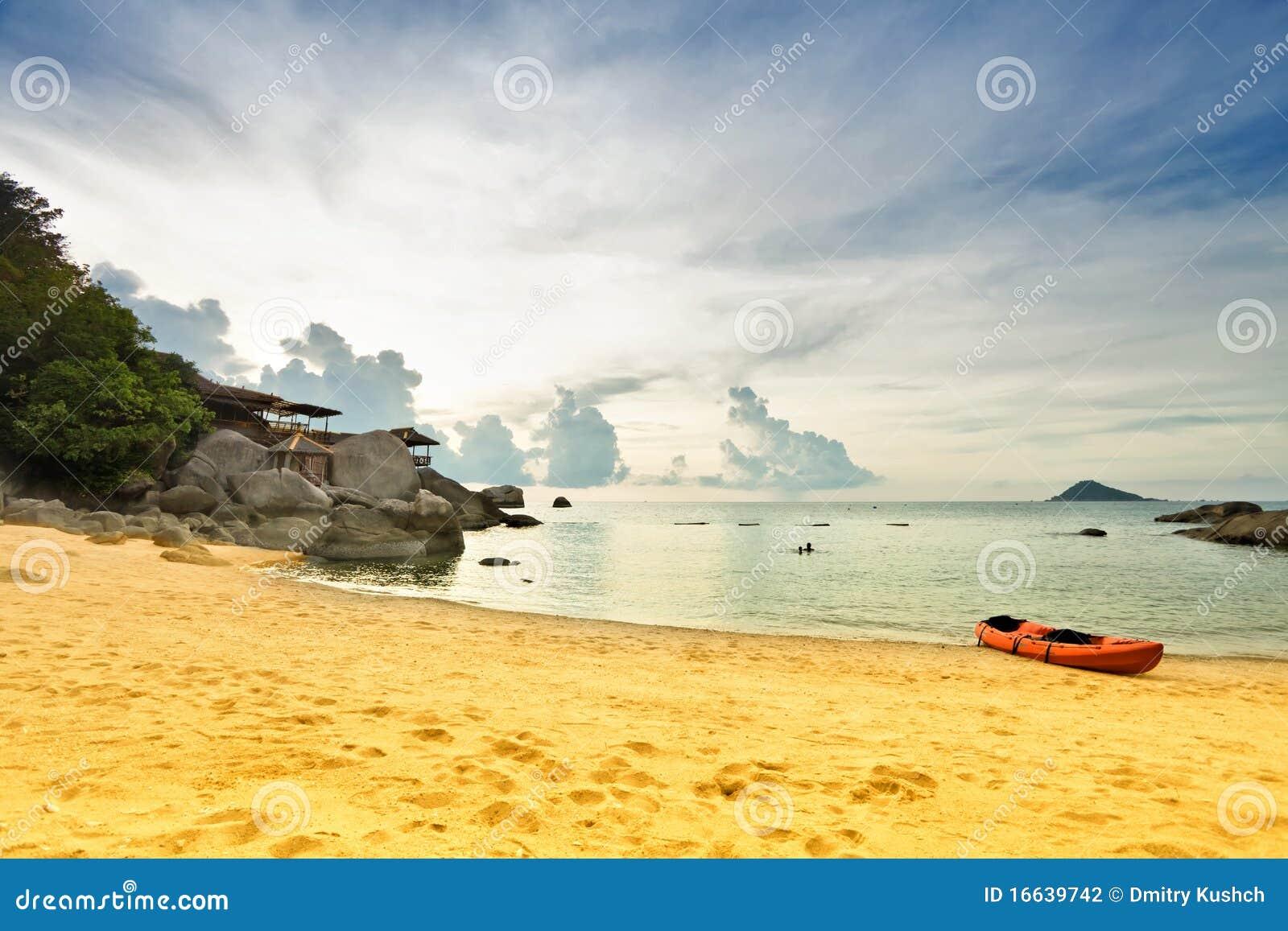 Auf dem tropischen Strand