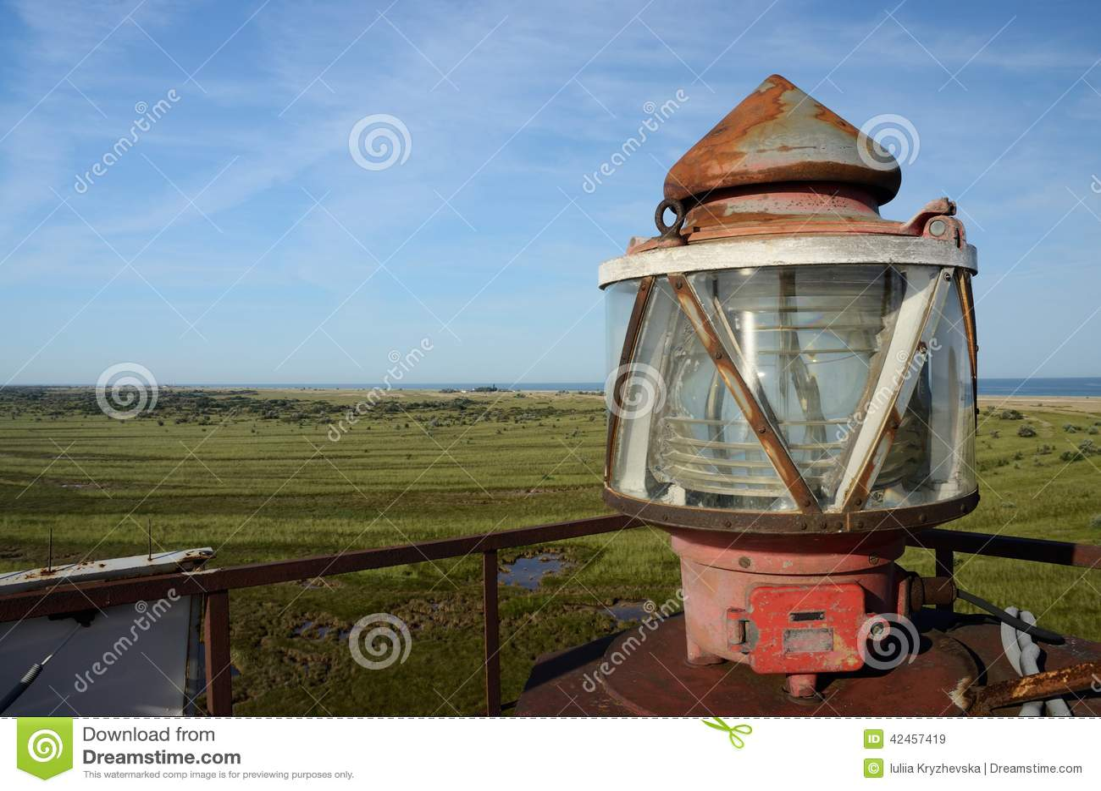 Auf die Oberseite des Nordleuchtturmes, Tendra-Navigationskennzeichen, Ukraine