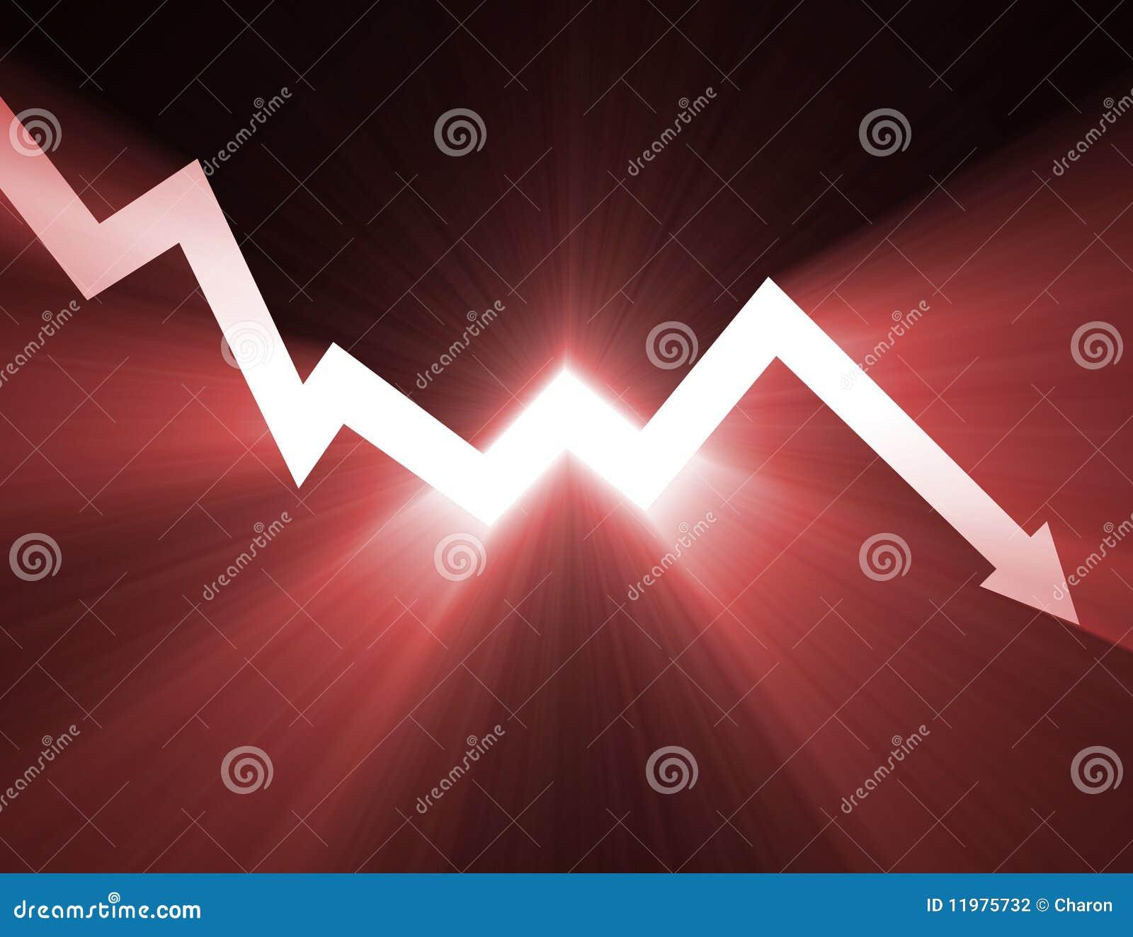 Auf lagerdiagramm neigen unten helles Aufflackern