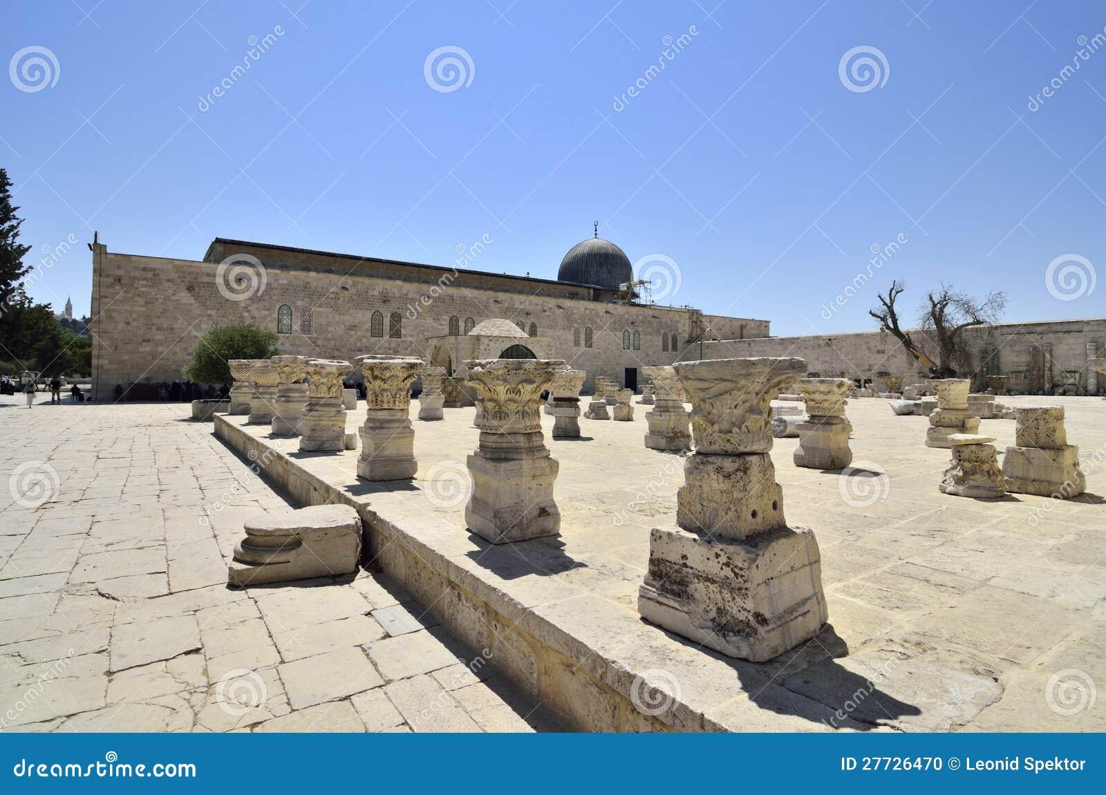 Auf Tempel-Montierung in Jerusalem.