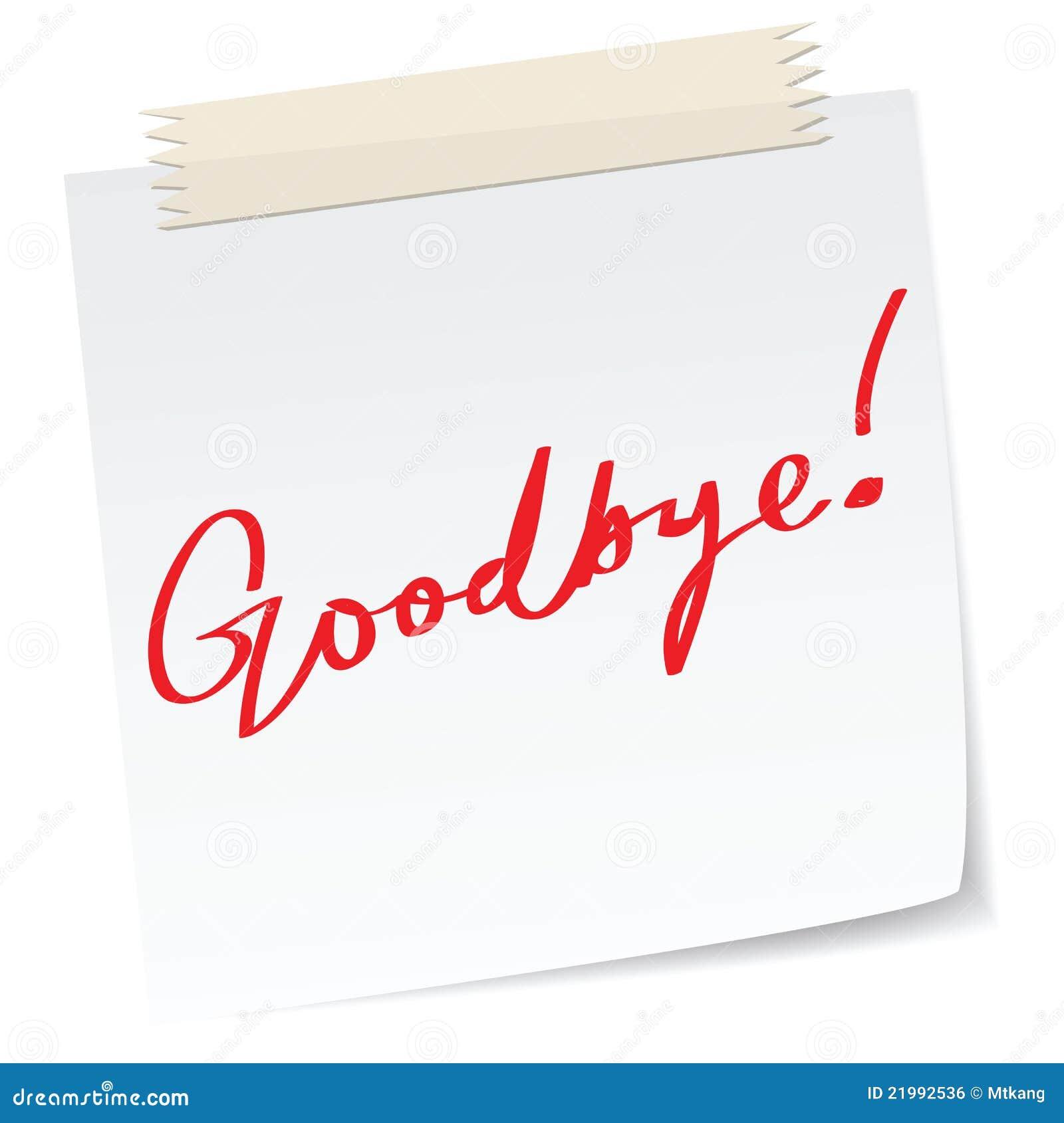 Business Letter Good Bye