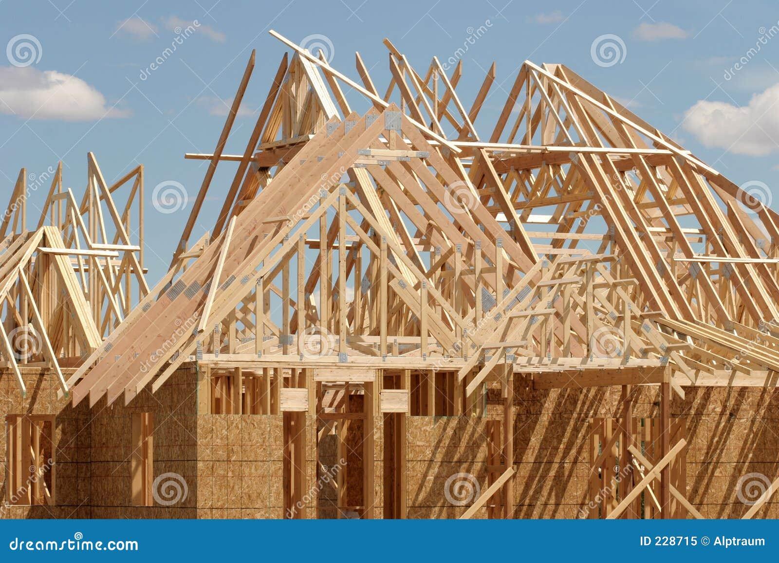 aufbau dach stockbild bild von aufbau holz planken 228715. Black Bedroom Furniture Sets. Home Design Ideas