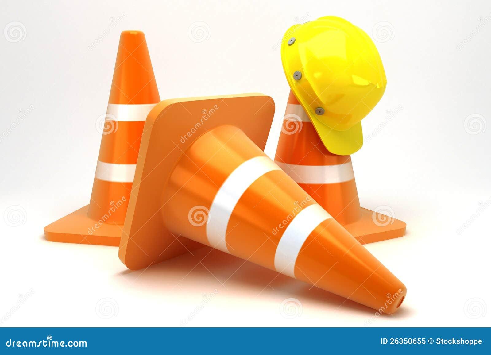 Aufbau-Kegel mit hartem Hut