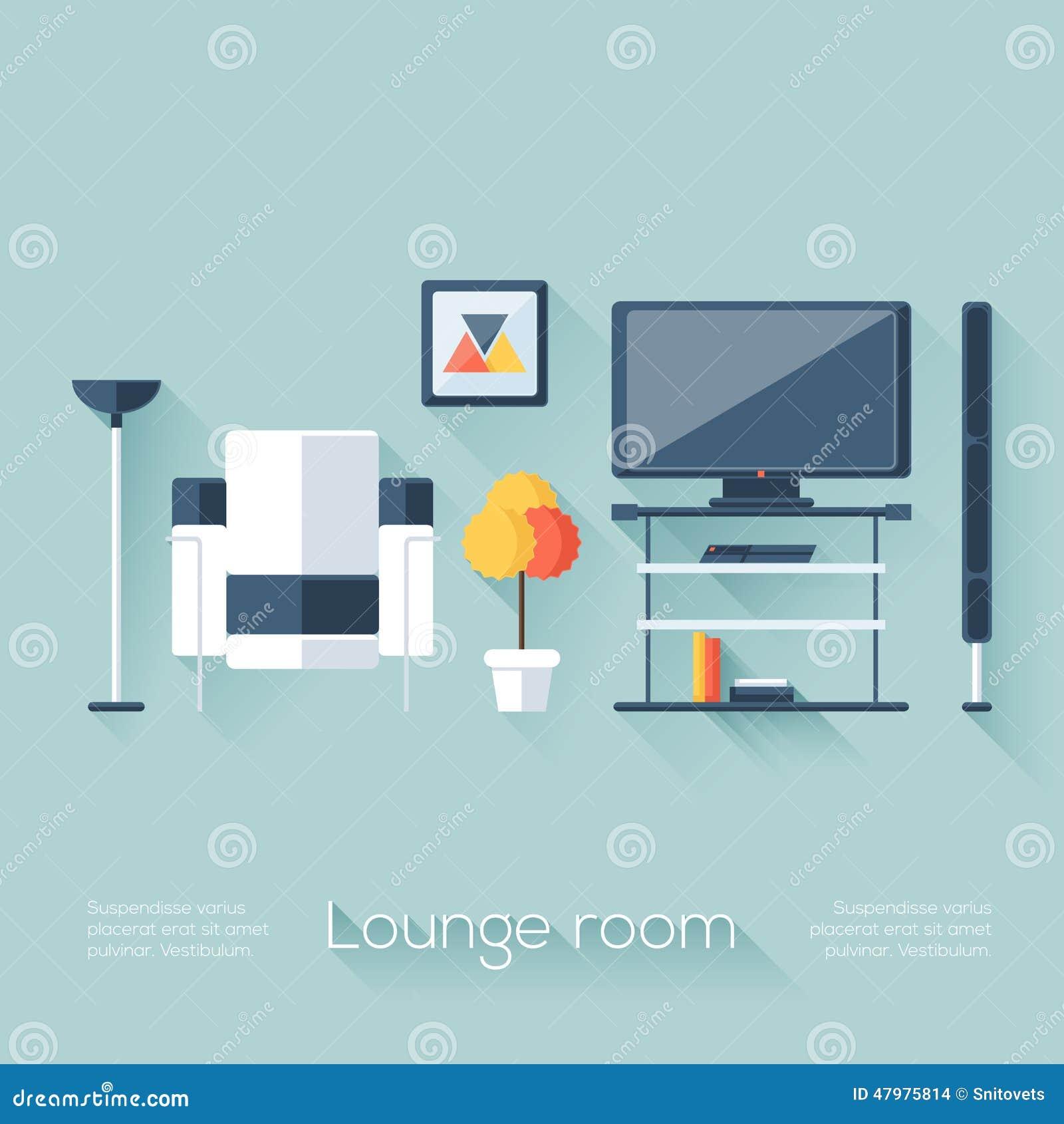 Aufenthaltsraum Oder Wohnzimmer Abdeckung Mit Fernsehen Konsole