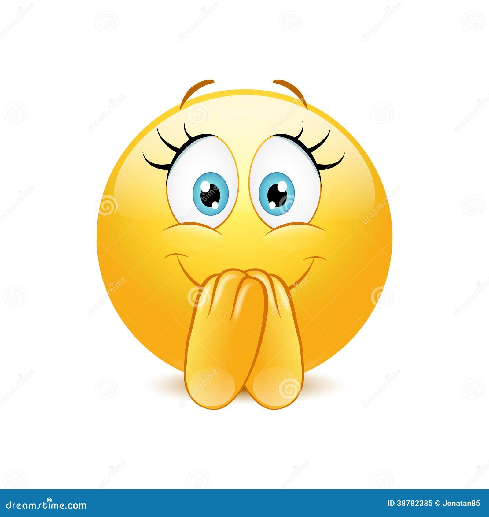 Aufgeregter Emoticon Vektor Abbildung Bild 38782385