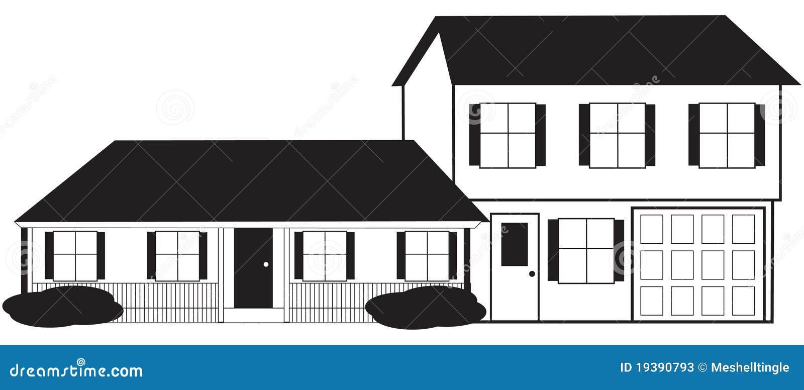 aufgeteilte waagerecht ausgerichtete haus skizze mit stockfotos bild 19390793. Black Bedroom Furniture Sets. Home Design Ideas