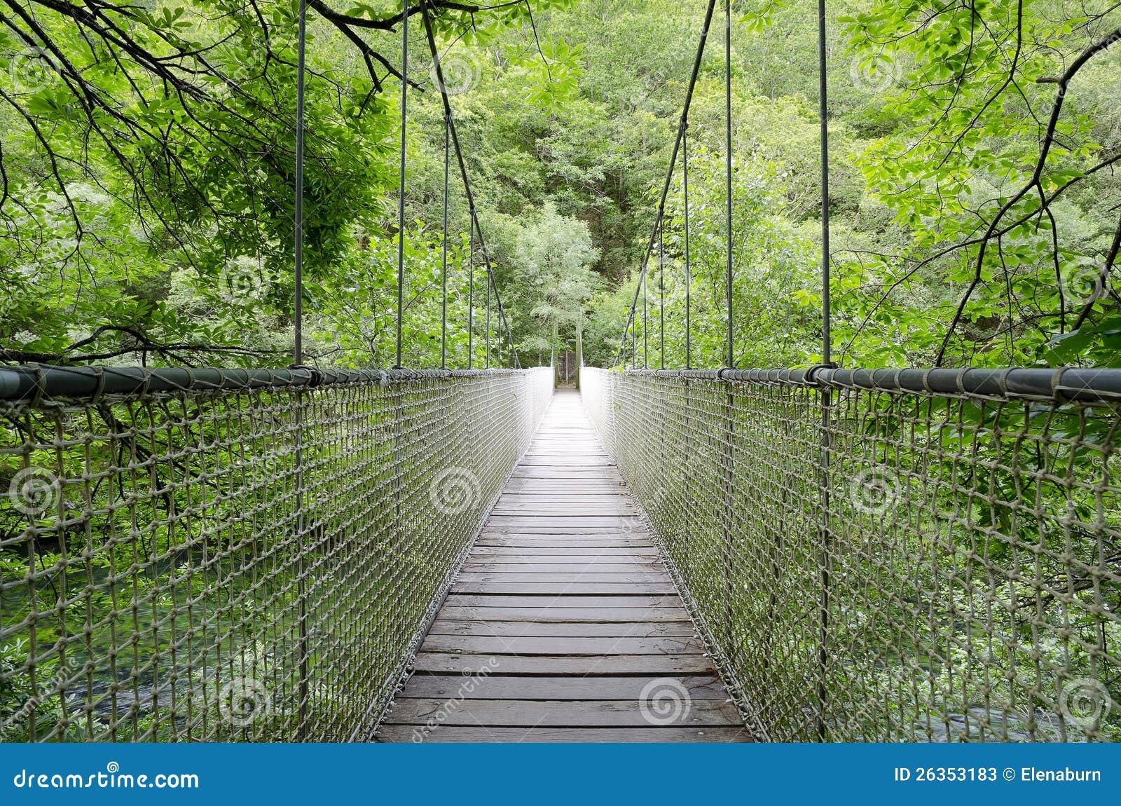 Aufhebungbrücke, Seilbrücke.