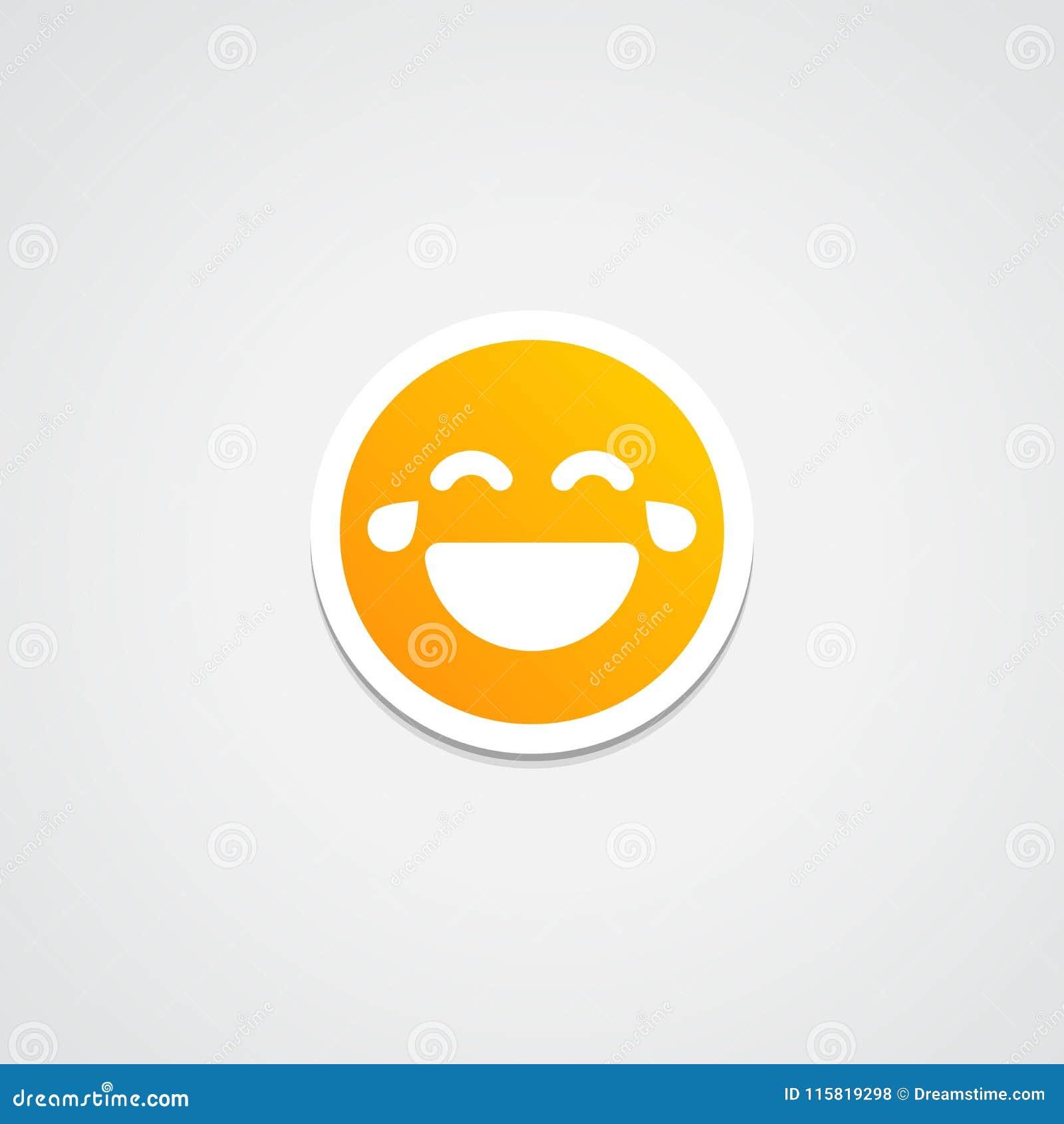 Digital illustration von haha aufkleber