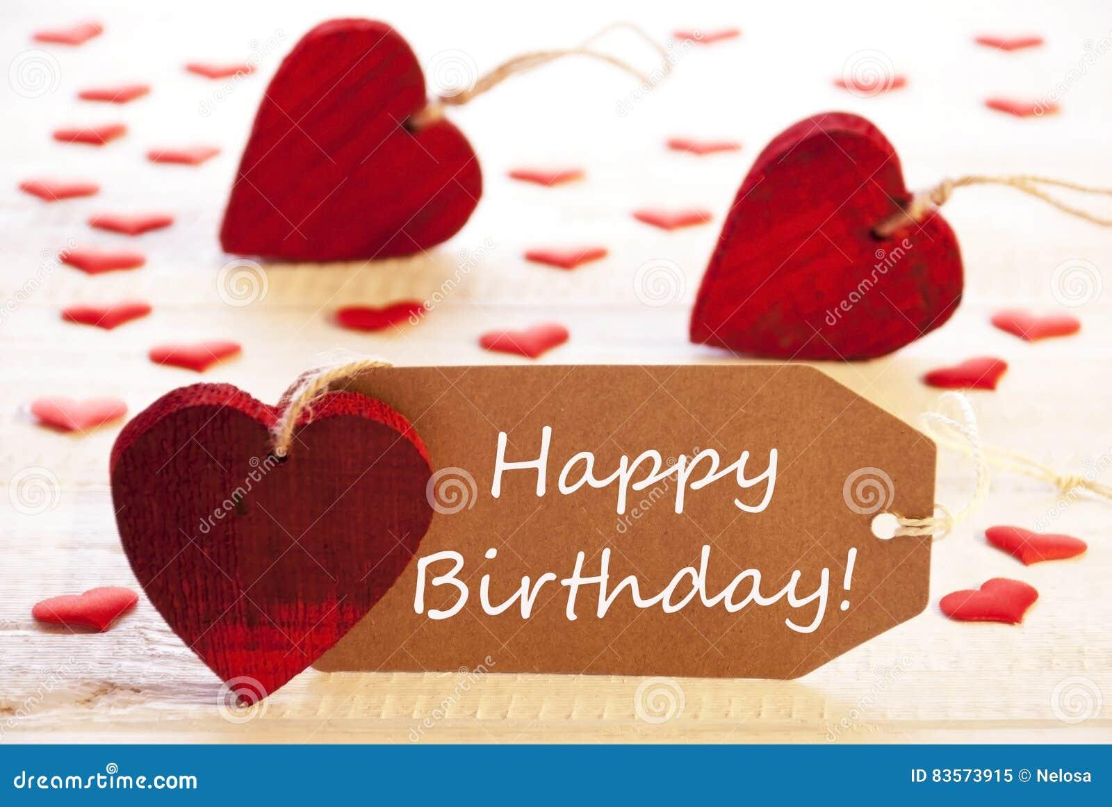 Aufkleber Mit Vielen Rotes Herz Simsen Alles Gute Zum Geburtstag