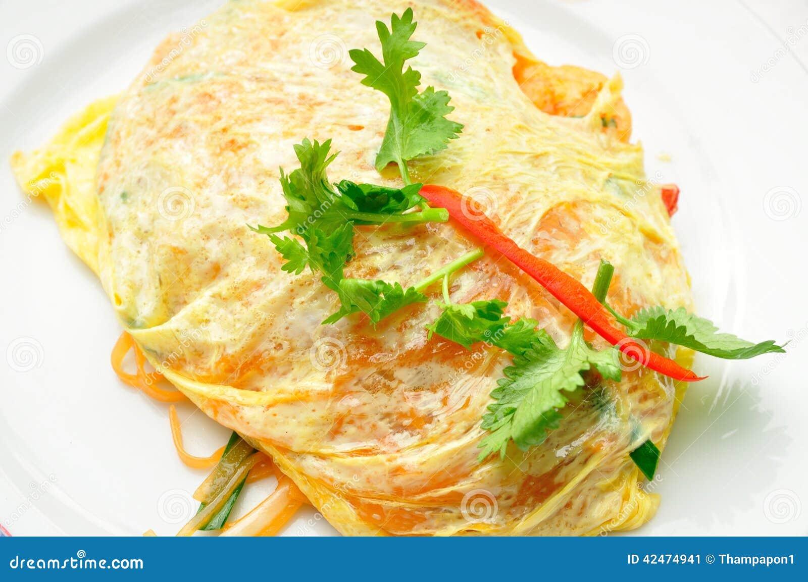 Auflage thailändisch mit frischer Garnele