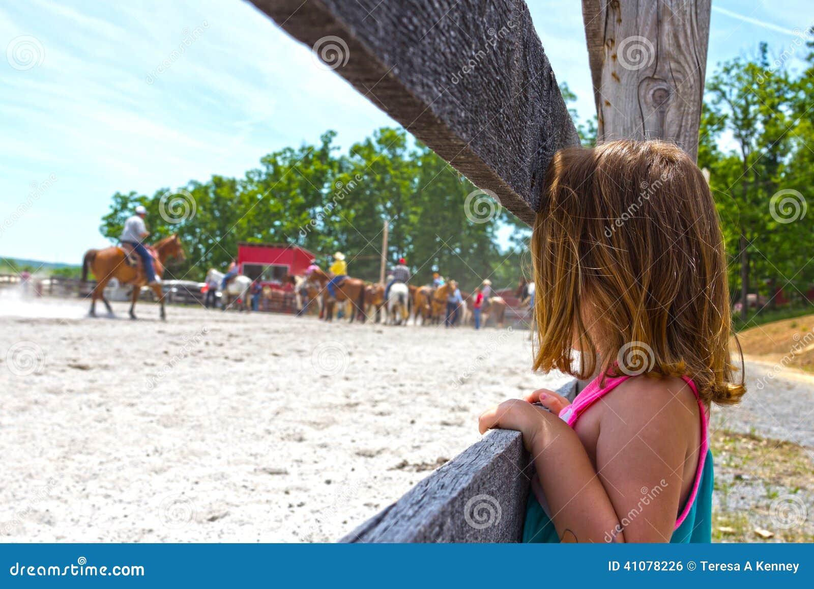 Aufpassendes Pferdroping