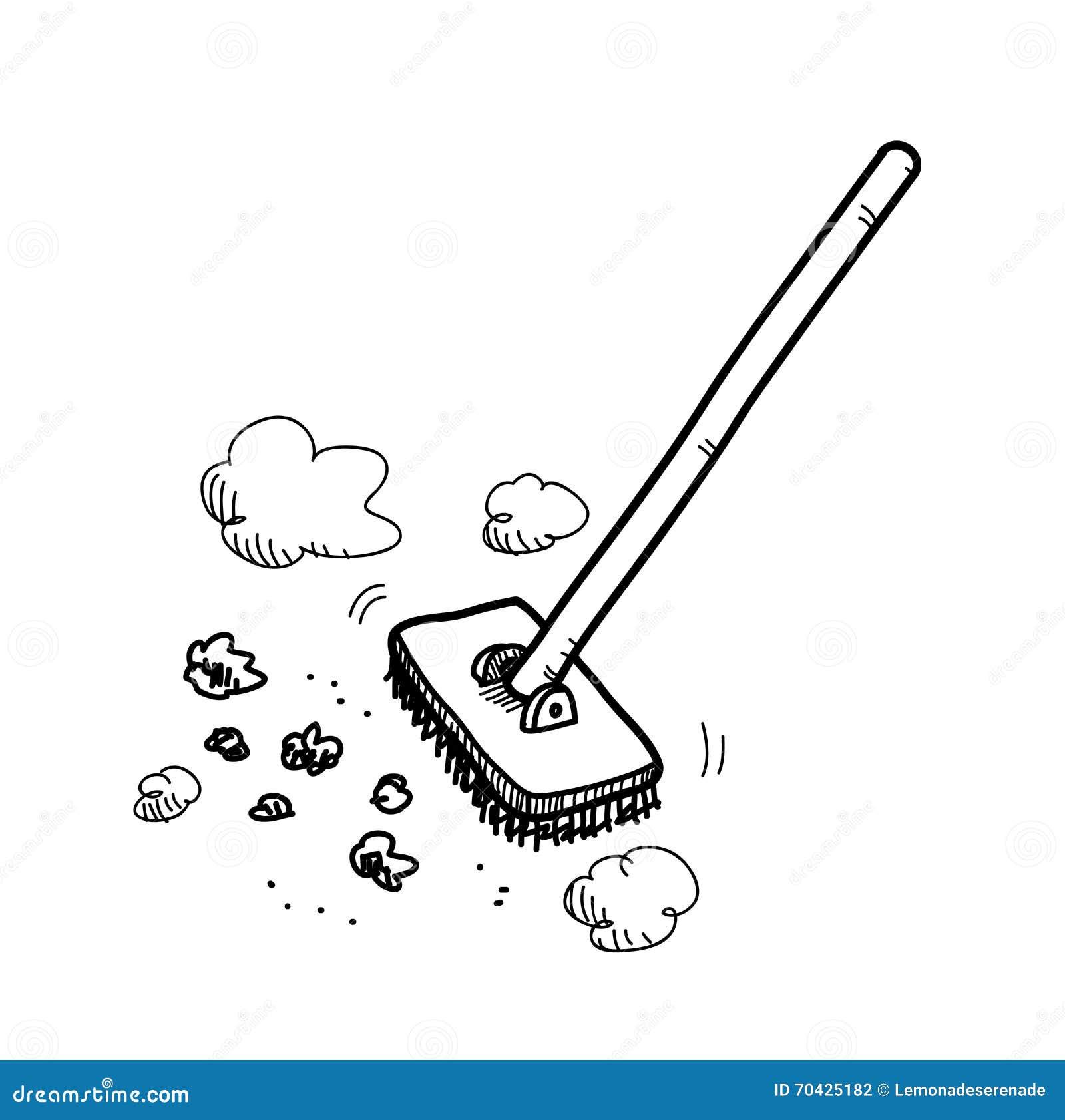 Aufräumen aufräumen vektor abbildung illustration sauber karikatur