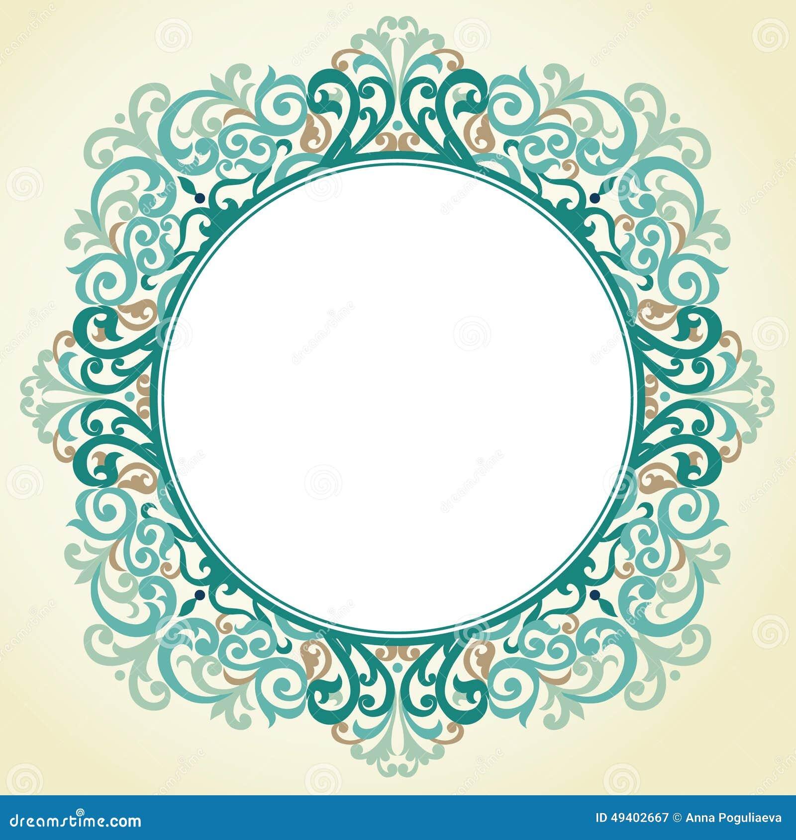 Download Aufwändiger Rahmen Des Vektors Im Viktorianischen Stil Vektor Abbildung - Illustration von für, arabisch: 49402667