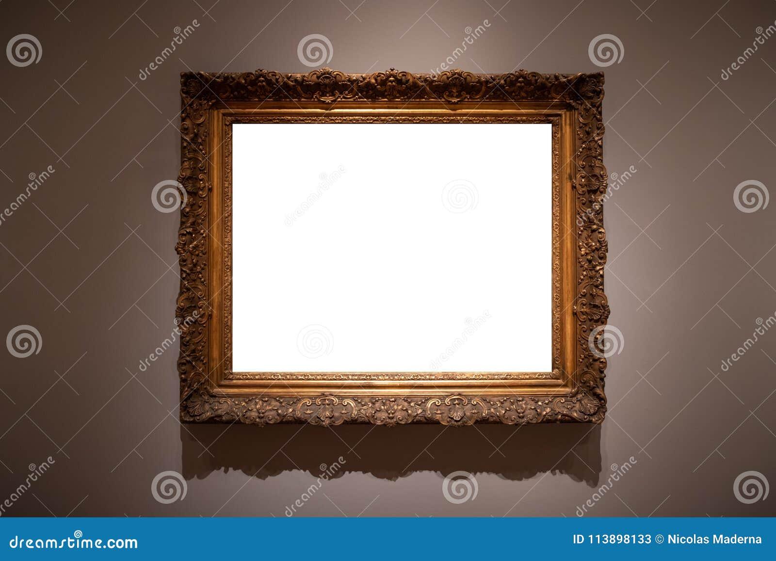 Aufwändiges Bilderrahmen-Art Gallery Museum Exhibit Blank-Weiß ...