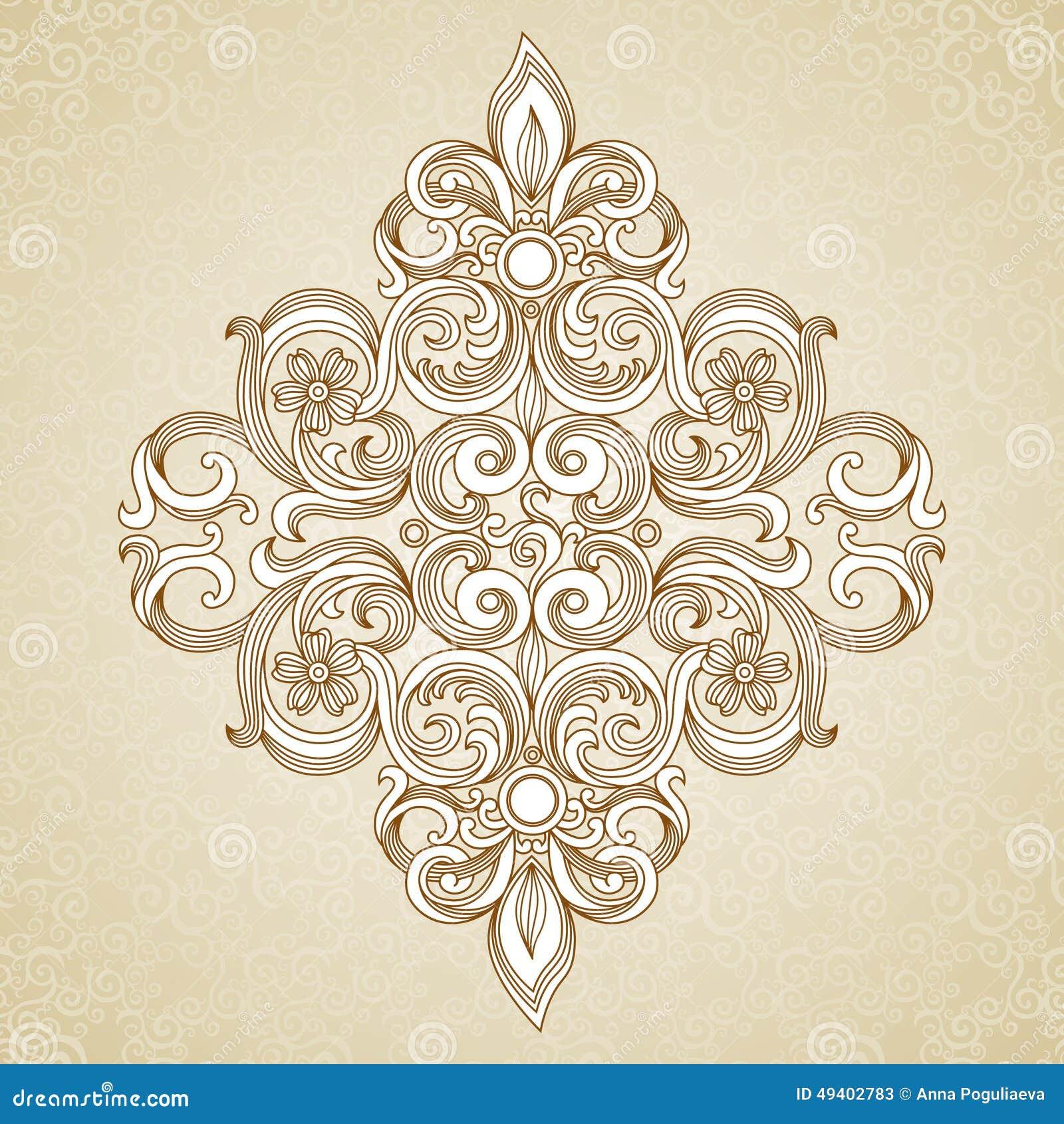Download Aufwändiges Muster Der Weinlese Vektor Abbildung - Illustration von islamisch, lacy: 49402783