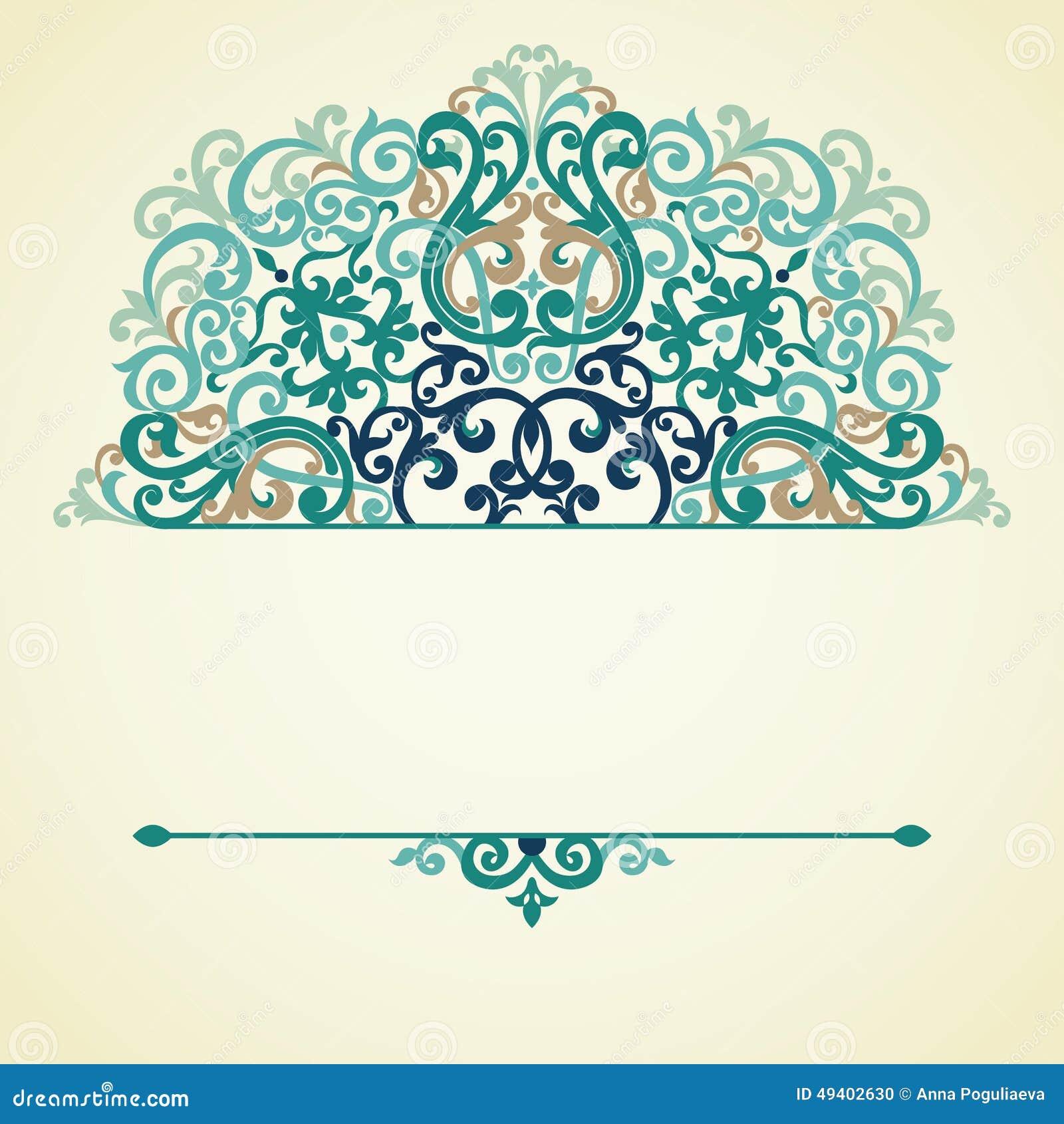 Download Aufwändiges Muster Des Vektors Im Viktorianischen Stil Vektor Abbildung - Illustration von auszug, muster: 49402630
