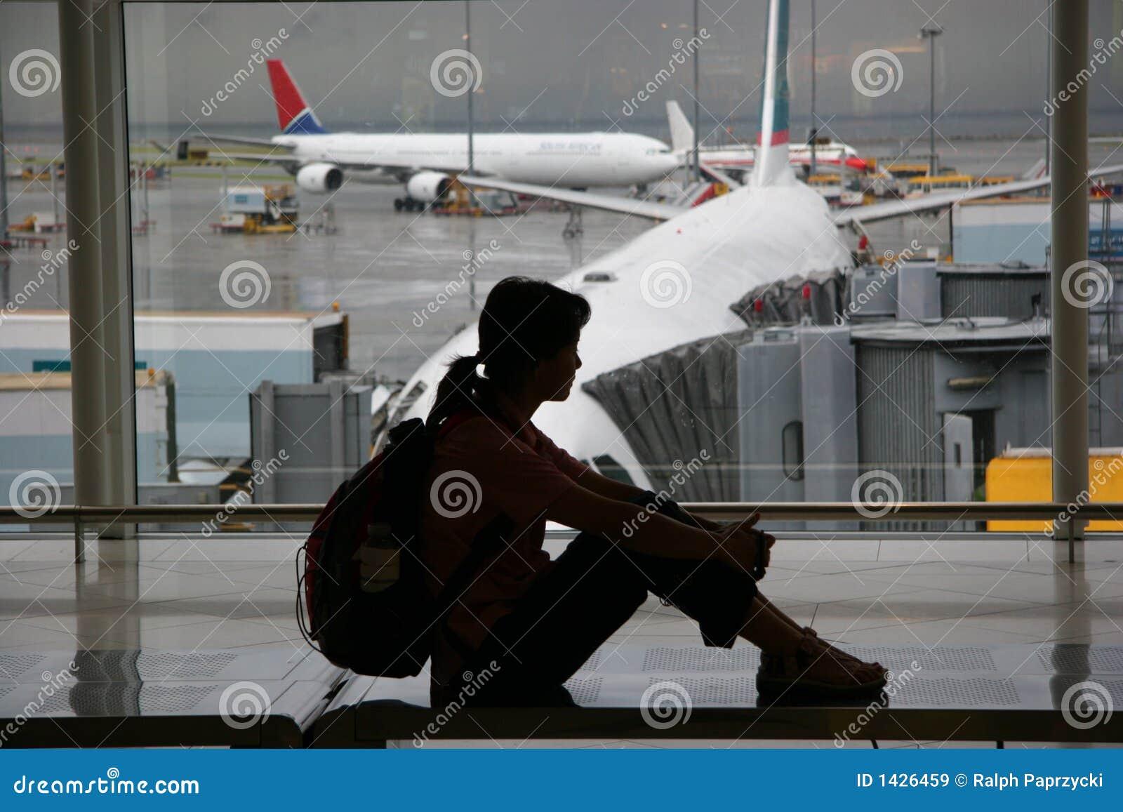 Aufwartung am Flughafen