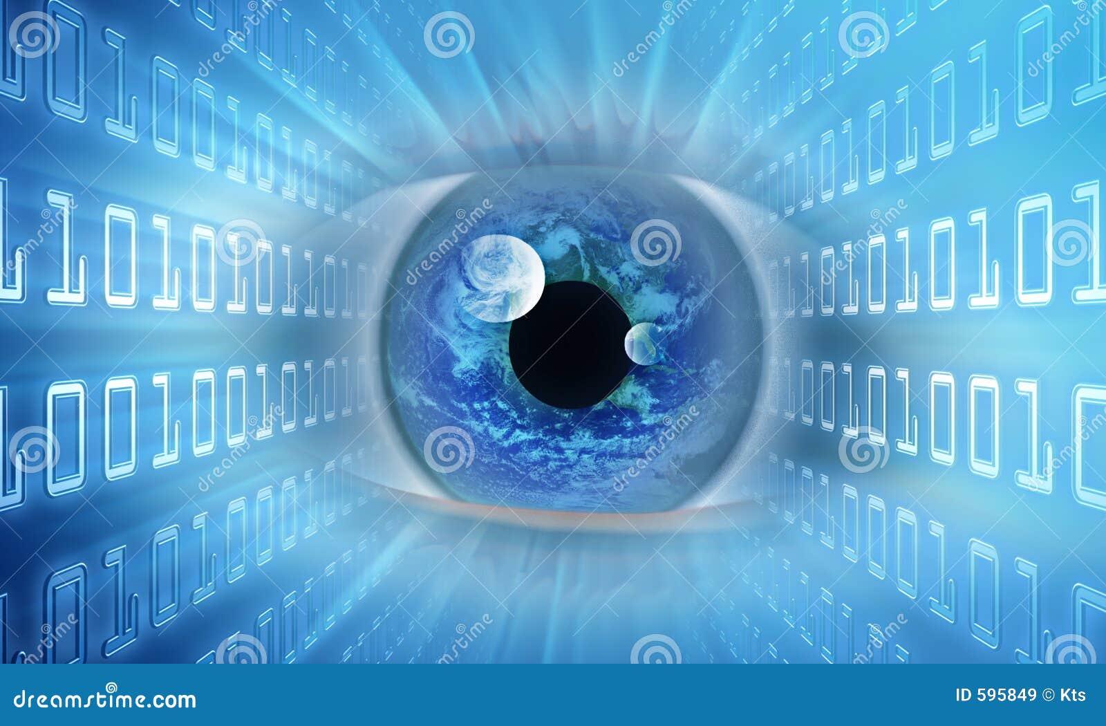 Auge der Informationen