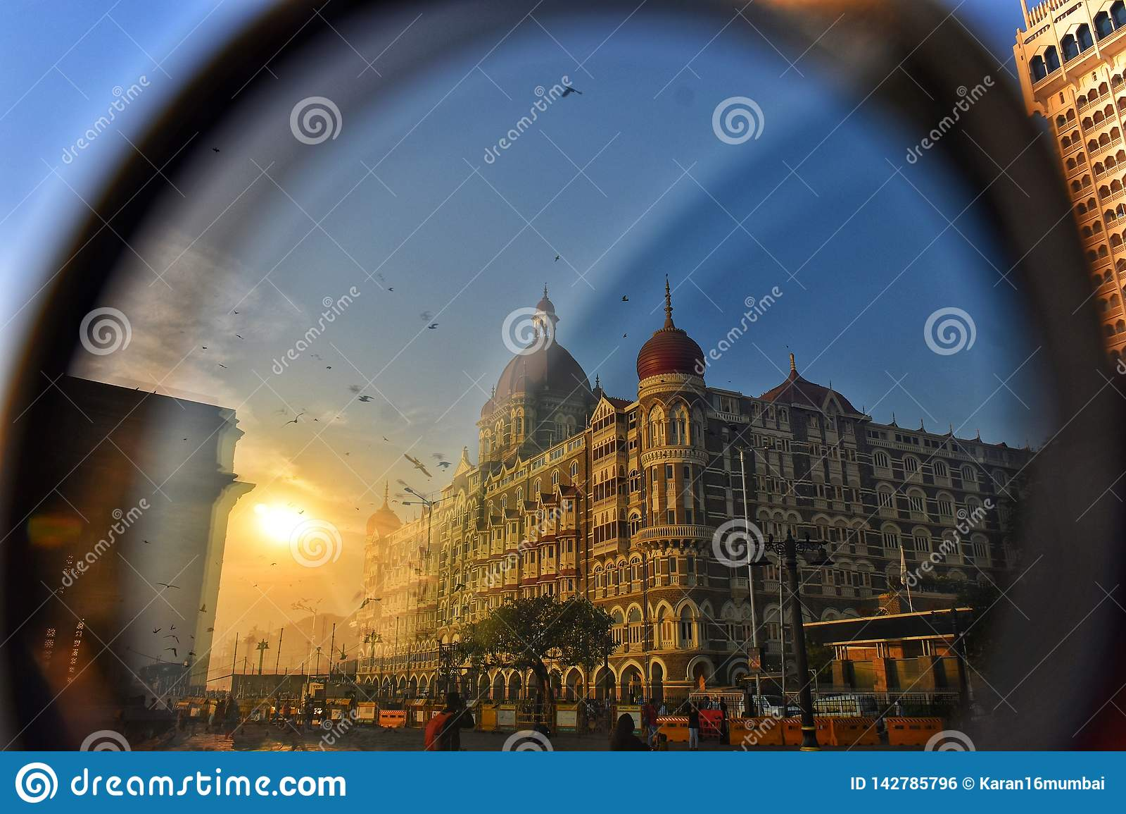 Auge des Finanzkapitals Zugang von Indien, Mumbai, Indien