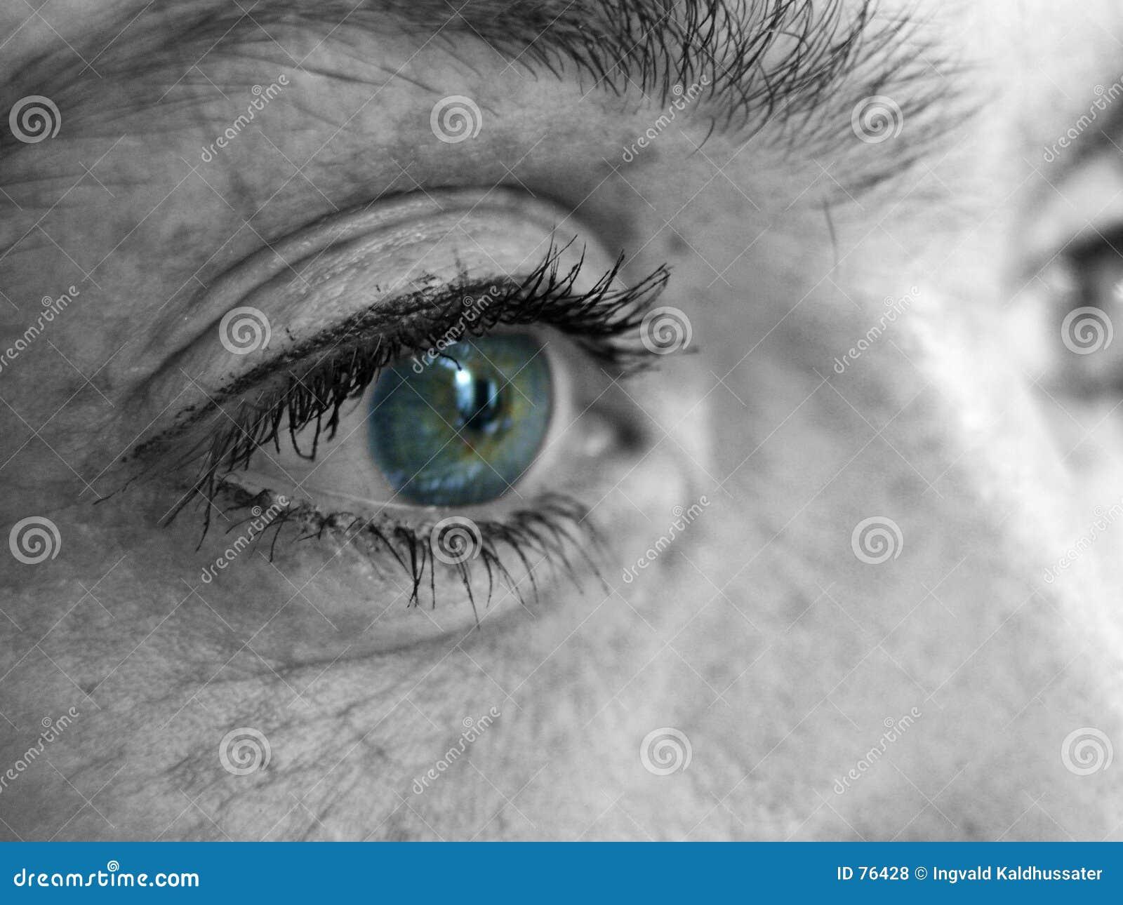 Auge des Mädchens