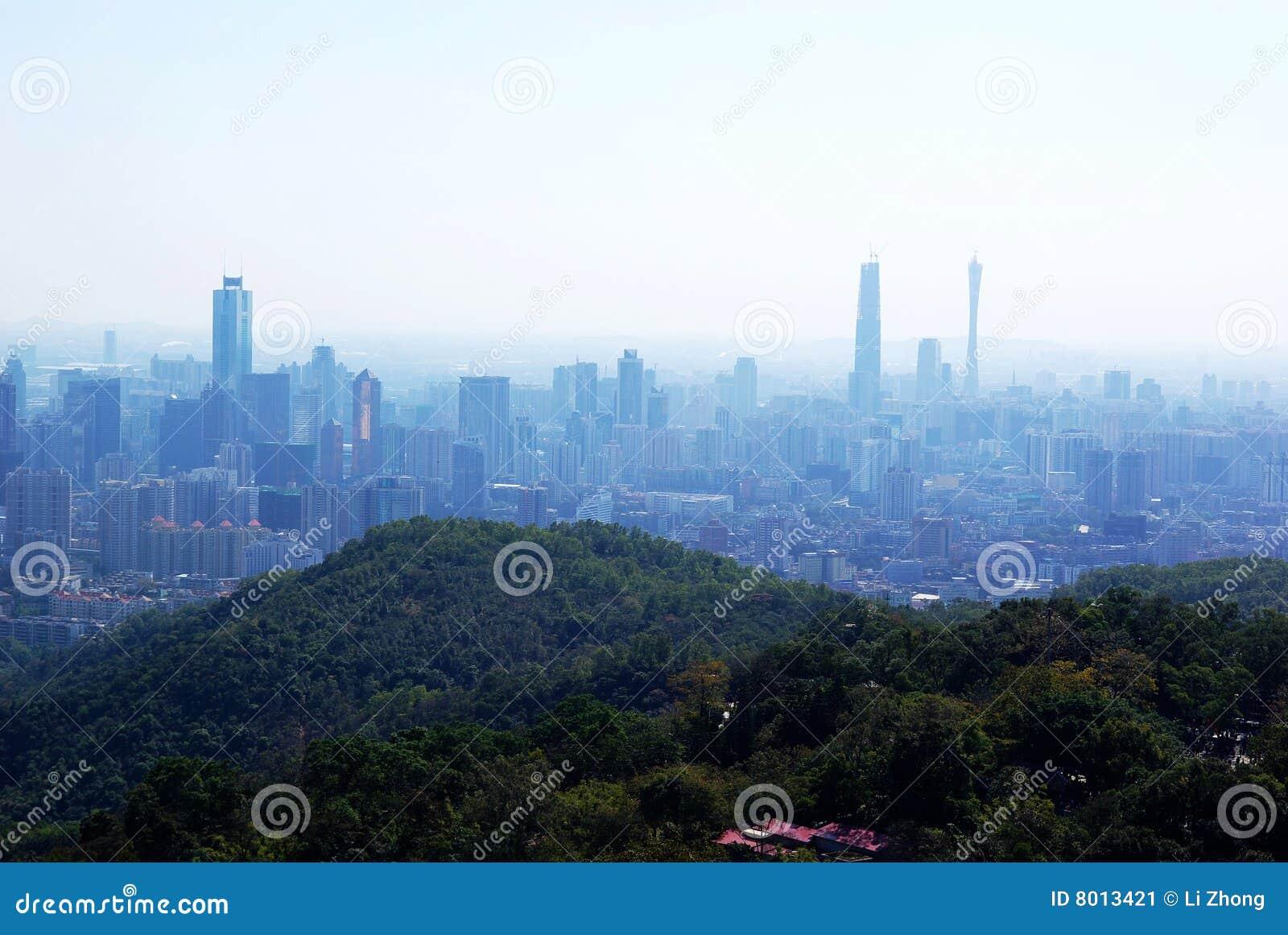Augen-Ansicht des Vogels von Guangzhou