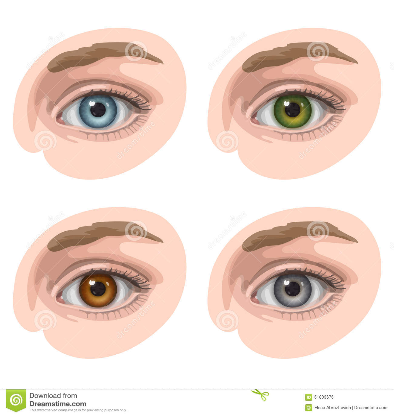 Augen mit verschiedenen Farben