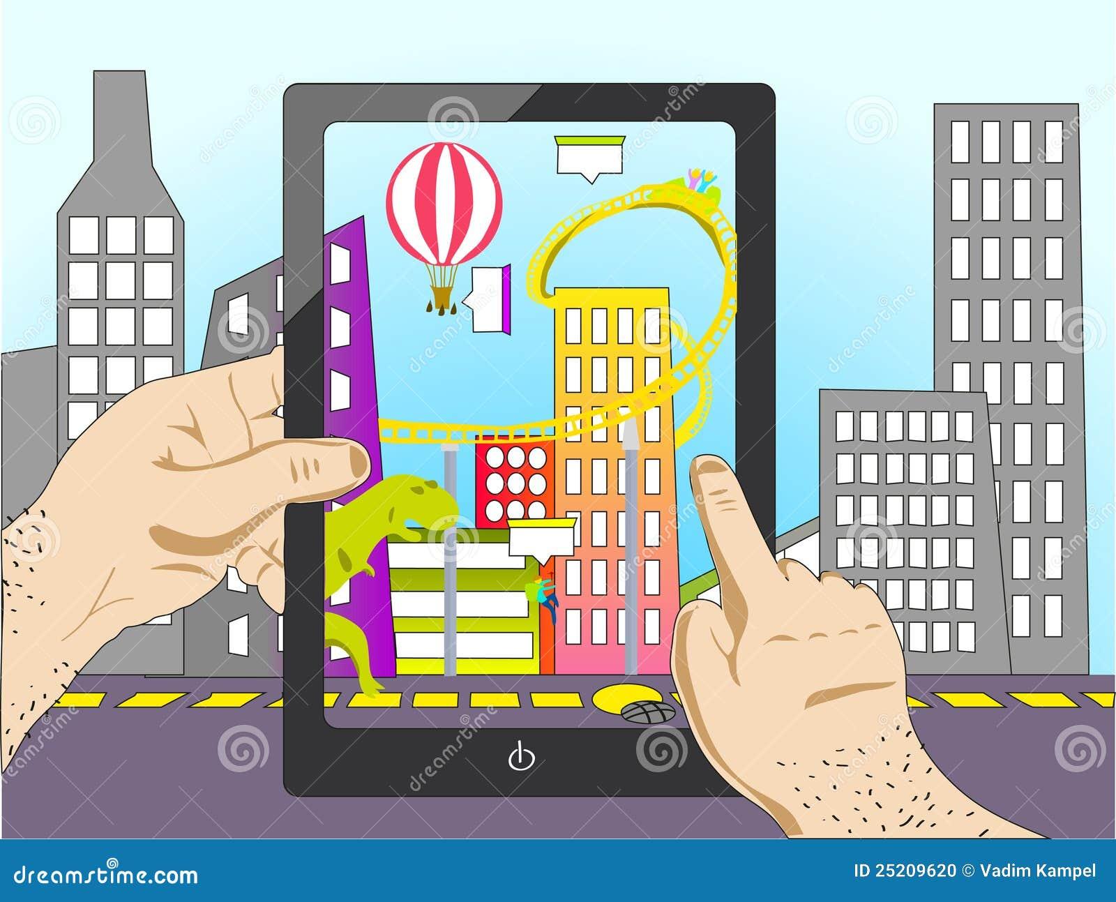 Augmented Reality Stock Photo Image 25209620