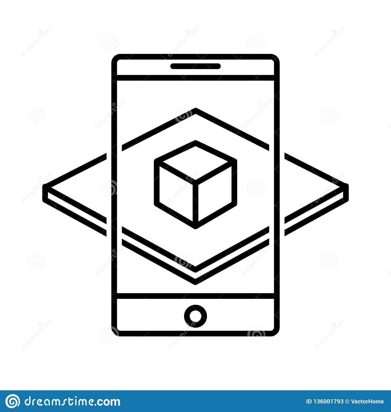 Augmented Reality Icon, Vector Illustration Stock Vector - Illustration of innovation ...