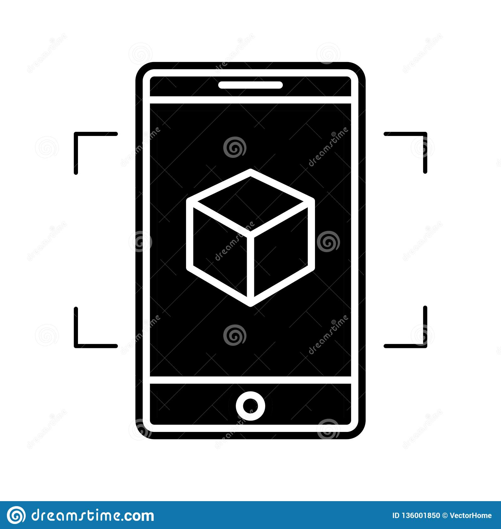 Augmented reality icon, vector illustration