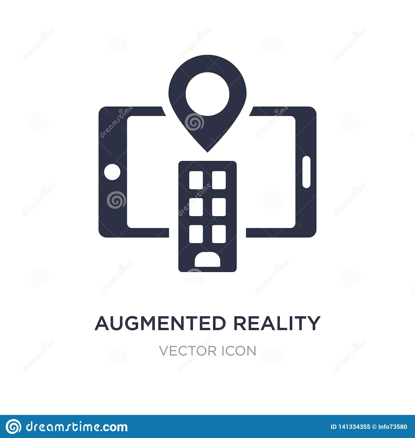 Augmented Reality Icon On White Background. Simple Element Illustration From Future Technology ...