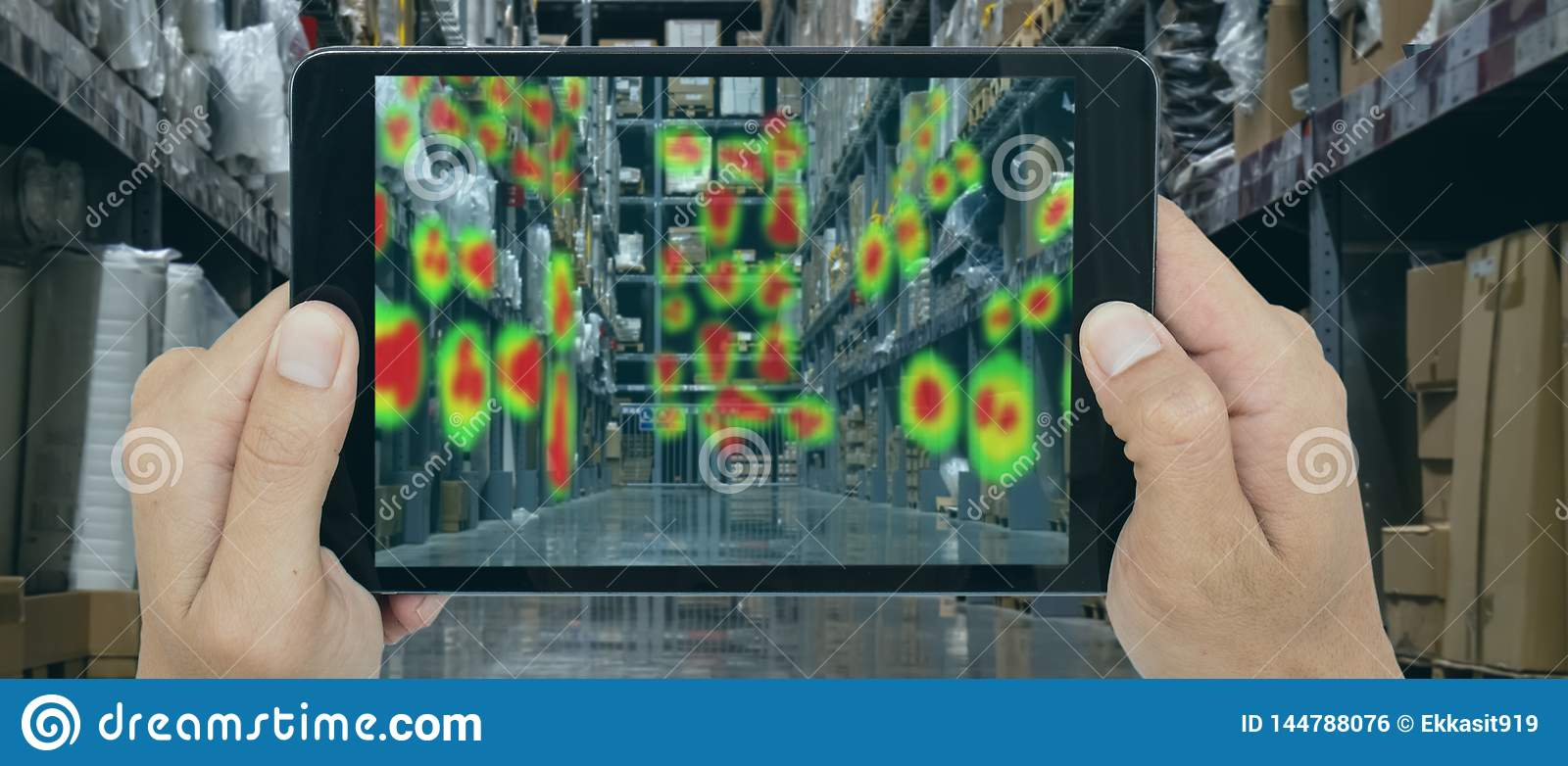 Augmented and virtual reality technology futuristic concept, Retailer use augmented combine virtual reality technology to find the
