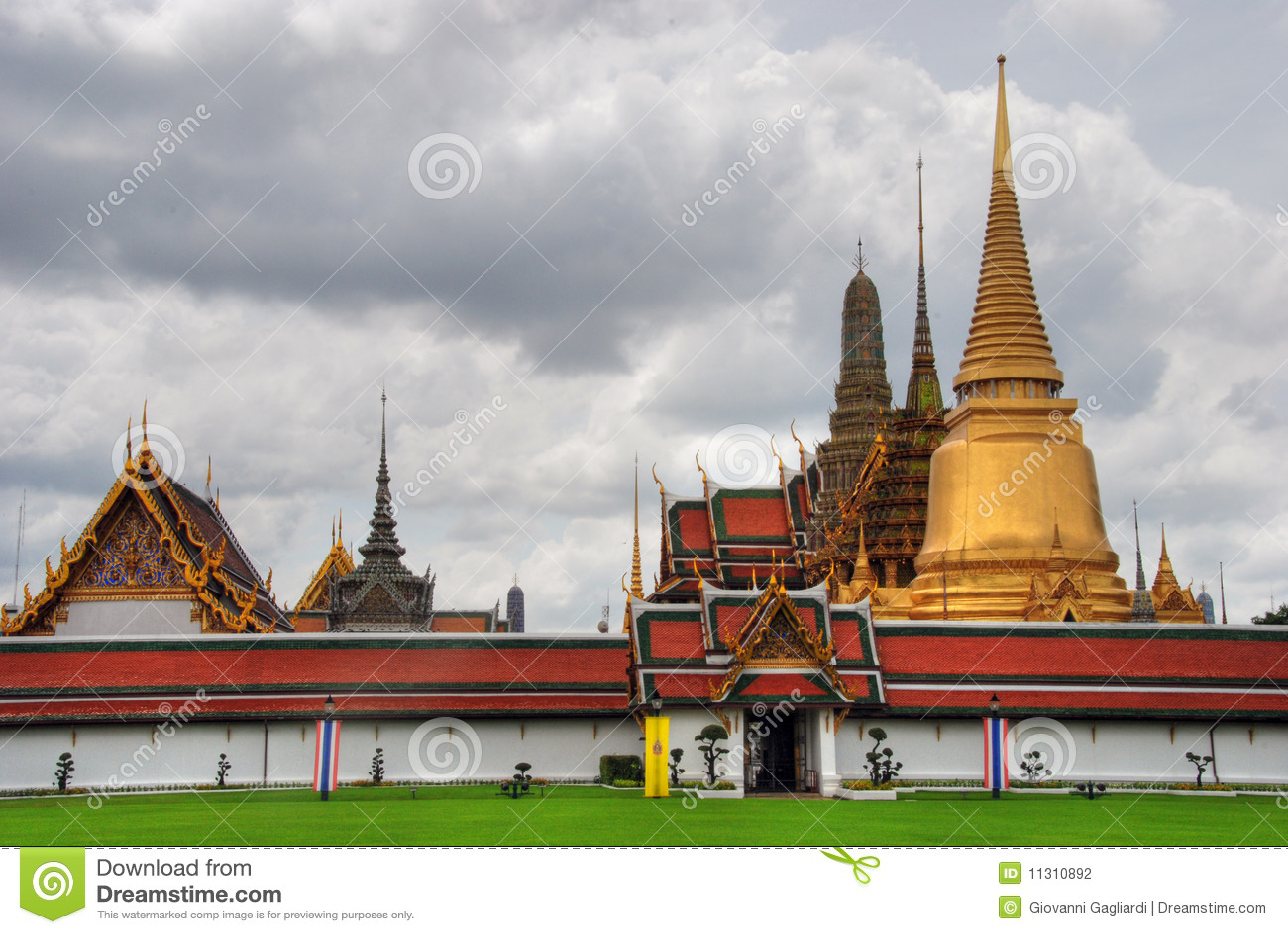 August bangkok tempel för 2007