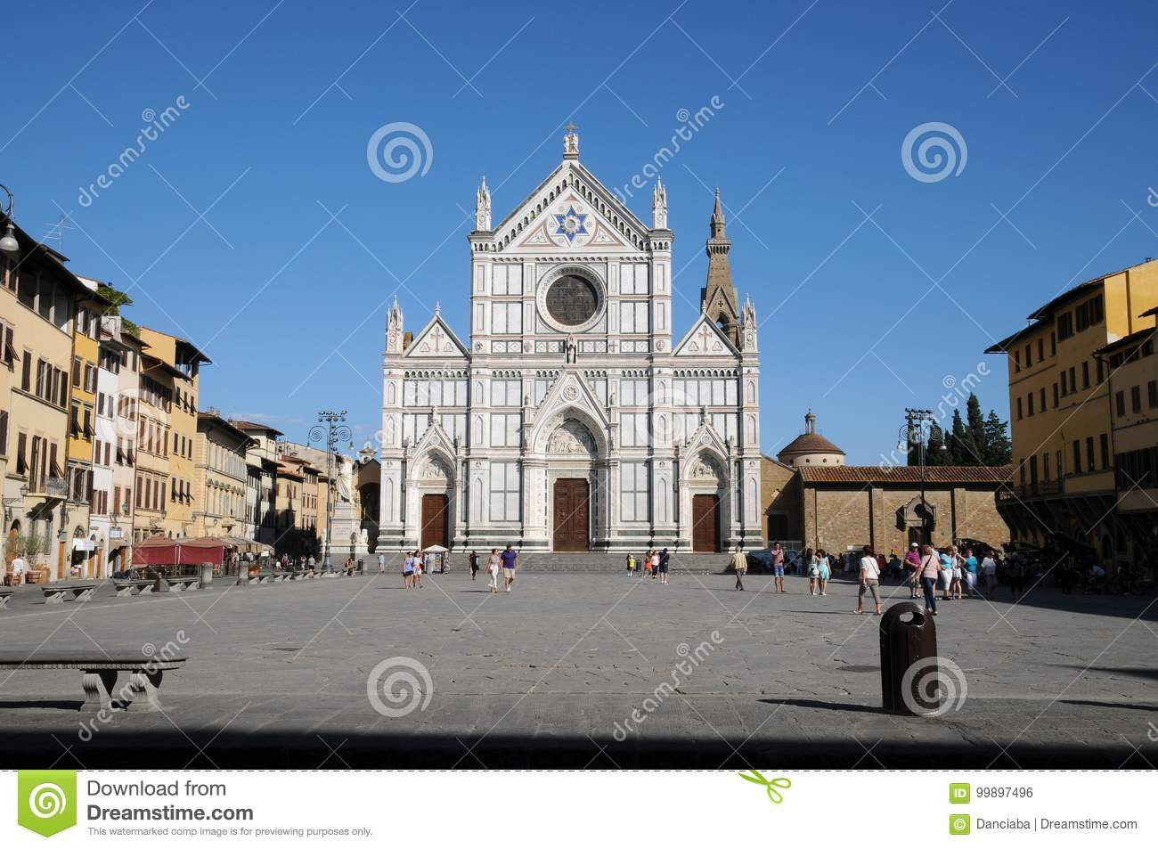The Basilica of Santa Croce Basilica of the Holy Cross on square of the same name in Florence, Tuscany, Italy. F