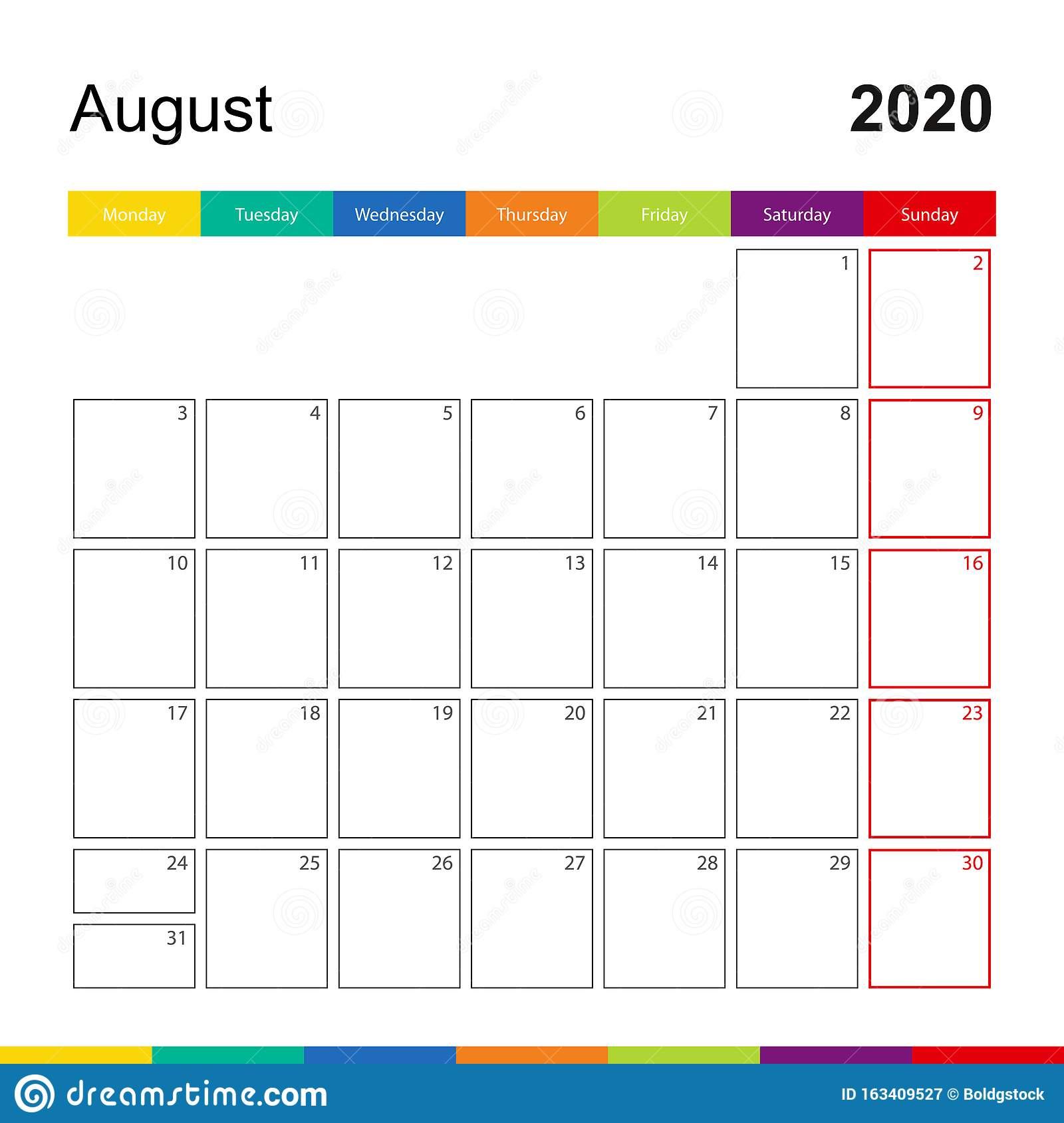 Summer Calendar Template from thumbs.dreamstime.com